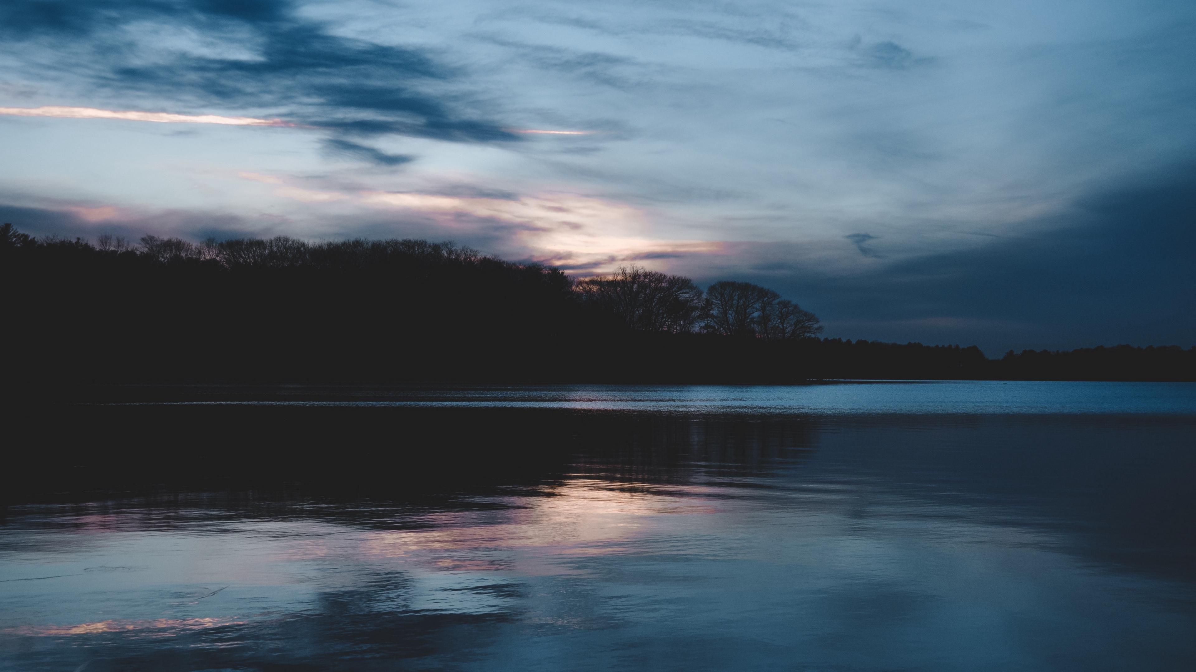 lake horizon evening clouds 4k 1541117454 - lake, horizon, evening, clouds 4k - Lake, Horizon, Evening