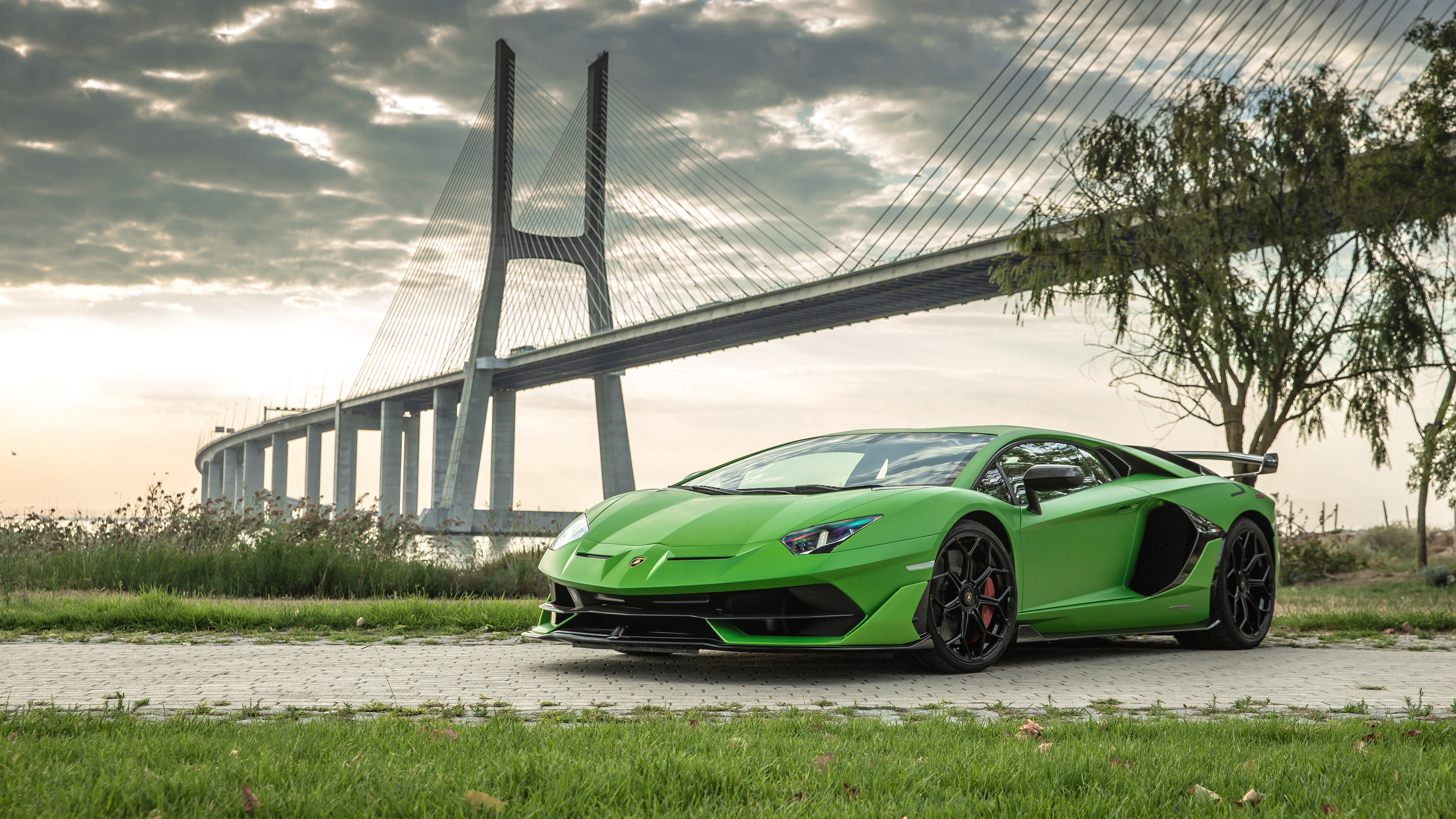 Wallpaper 4k Lamborghini Aventador Svj 2019 Front 2018 Cars