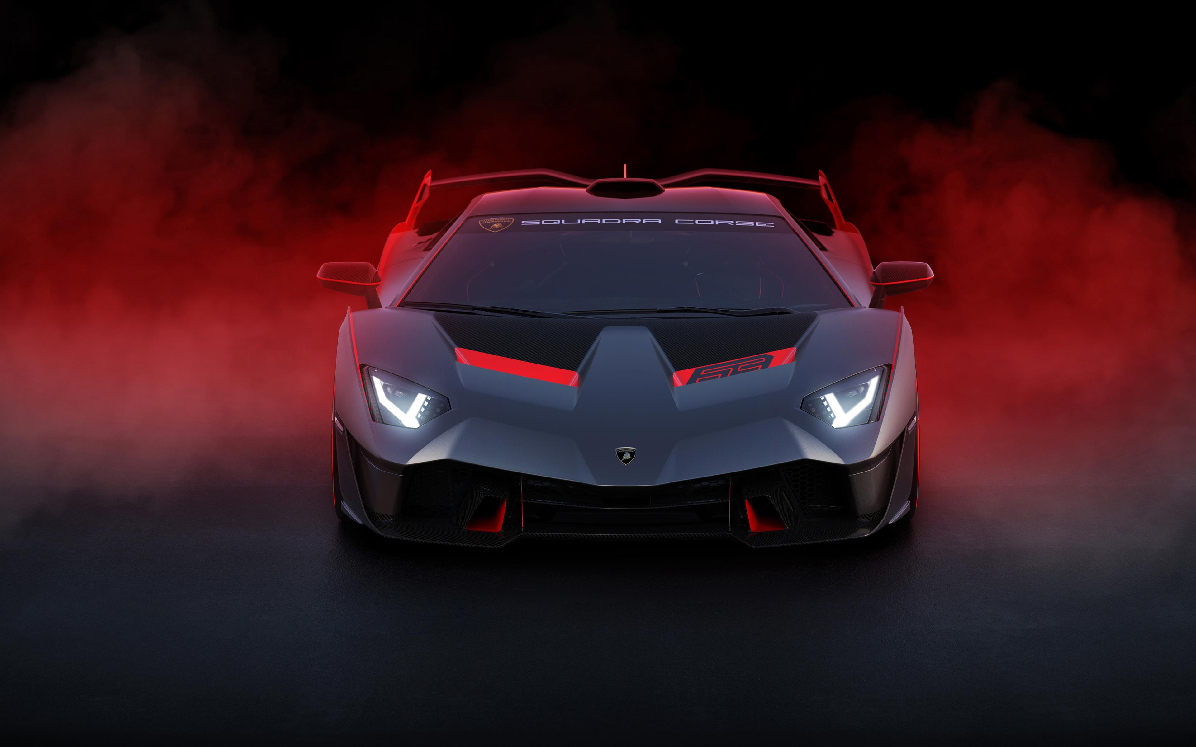 lamborghini sc18 2018 front zm 3840x2400 - Lamborghini SC18 Alston  front view 4K - Lamborghini SC18 hd 4k wallpapers, Lamborghini SC18 front view 4k, Lamborghini SC18 2018 wallpapers hd 4k
