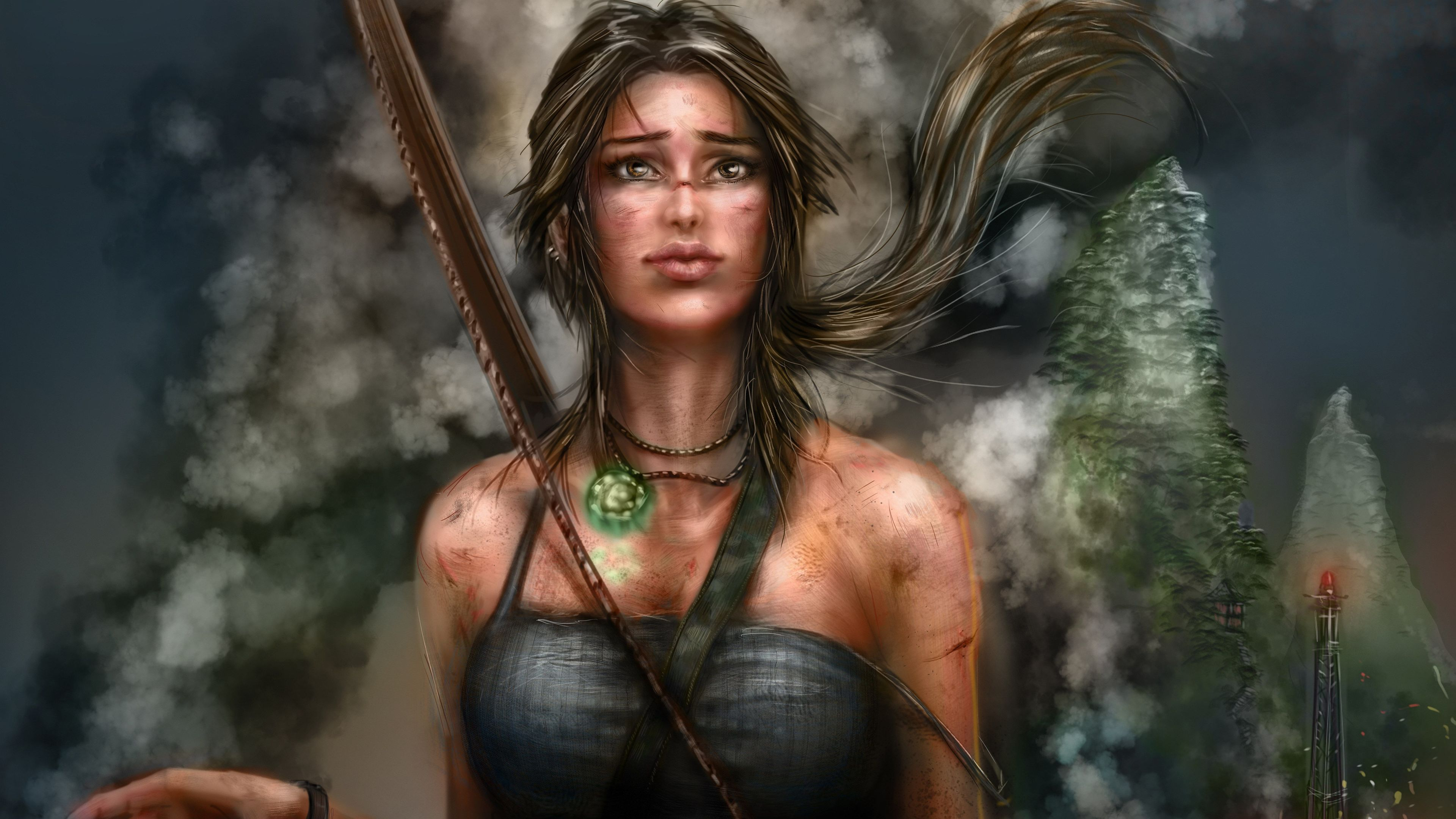 lara croft artworks 4k 1541295338 - Lara Croft Artworks 4k - tomb raider wallpapers, lara croft wallpapers, hd-wallpapers, games wallpapers, digital art wallpapers, artwork wallpapers, artist wallpapers, 5k wallpapers, 4k-wallpapers