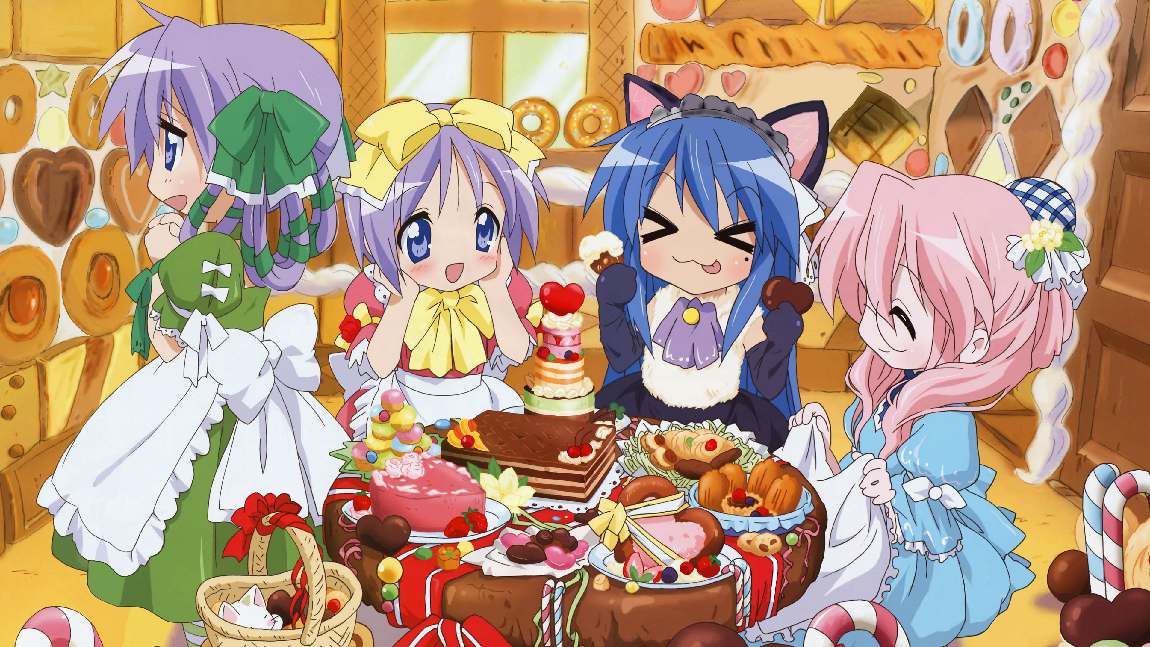 lucky star girls candy 4k 1541975664 - lucky star, girls, candy 4k - lucky star, Girls, Candy