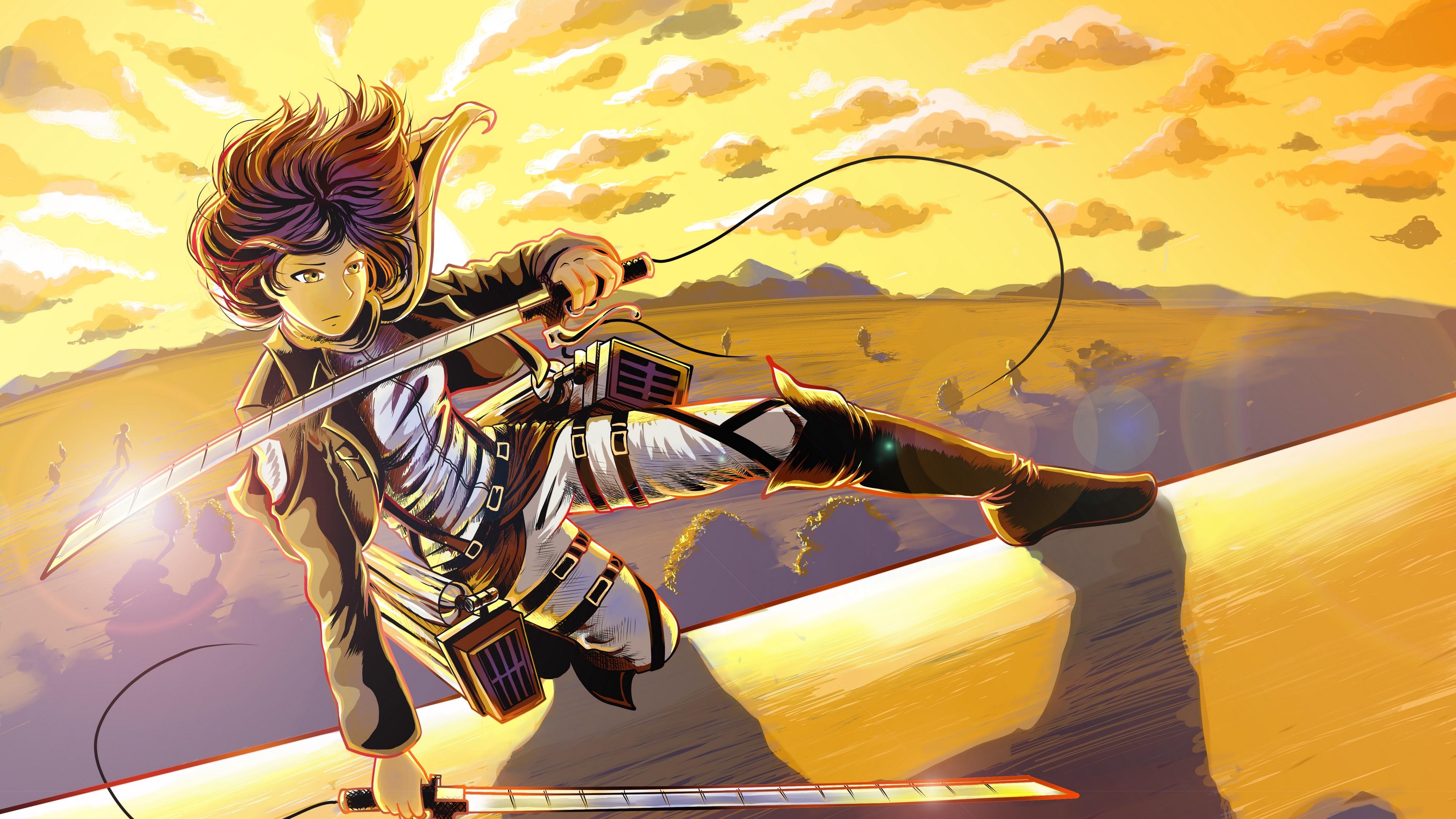 Wallpaper 4k Luna Selenium Mikasa Ackerman Shingeki No Kyojin