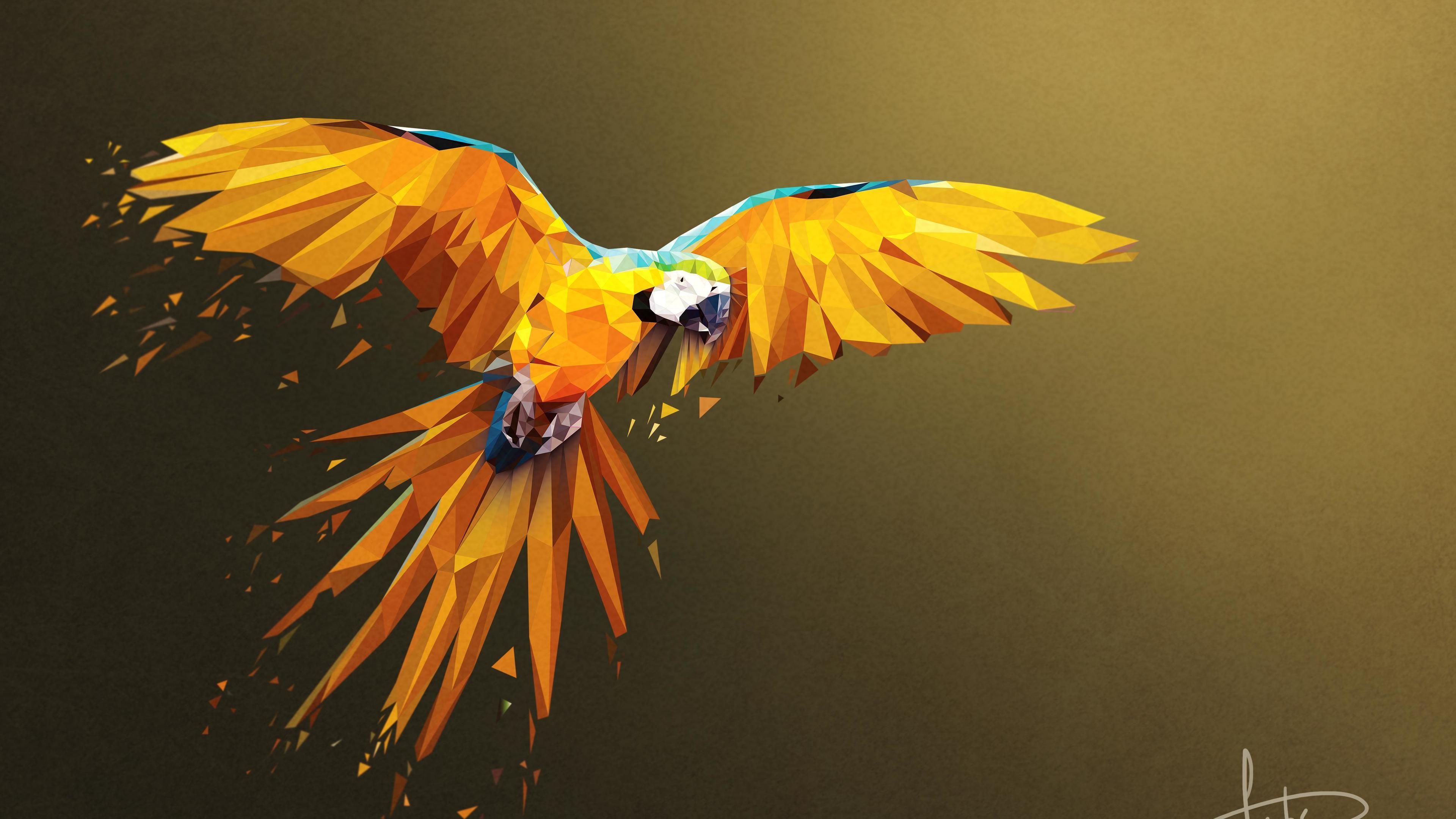 macaw low poly digital art 4k 1541970330 - Macaw Low Poly Digital Art 4k - parrot wallpapers, macaw wallpapers, hd-wallpapers, digital art wallpapers, birds wallpapers, artwork wallpapers, artist wallpapers, 4k-wallpapers