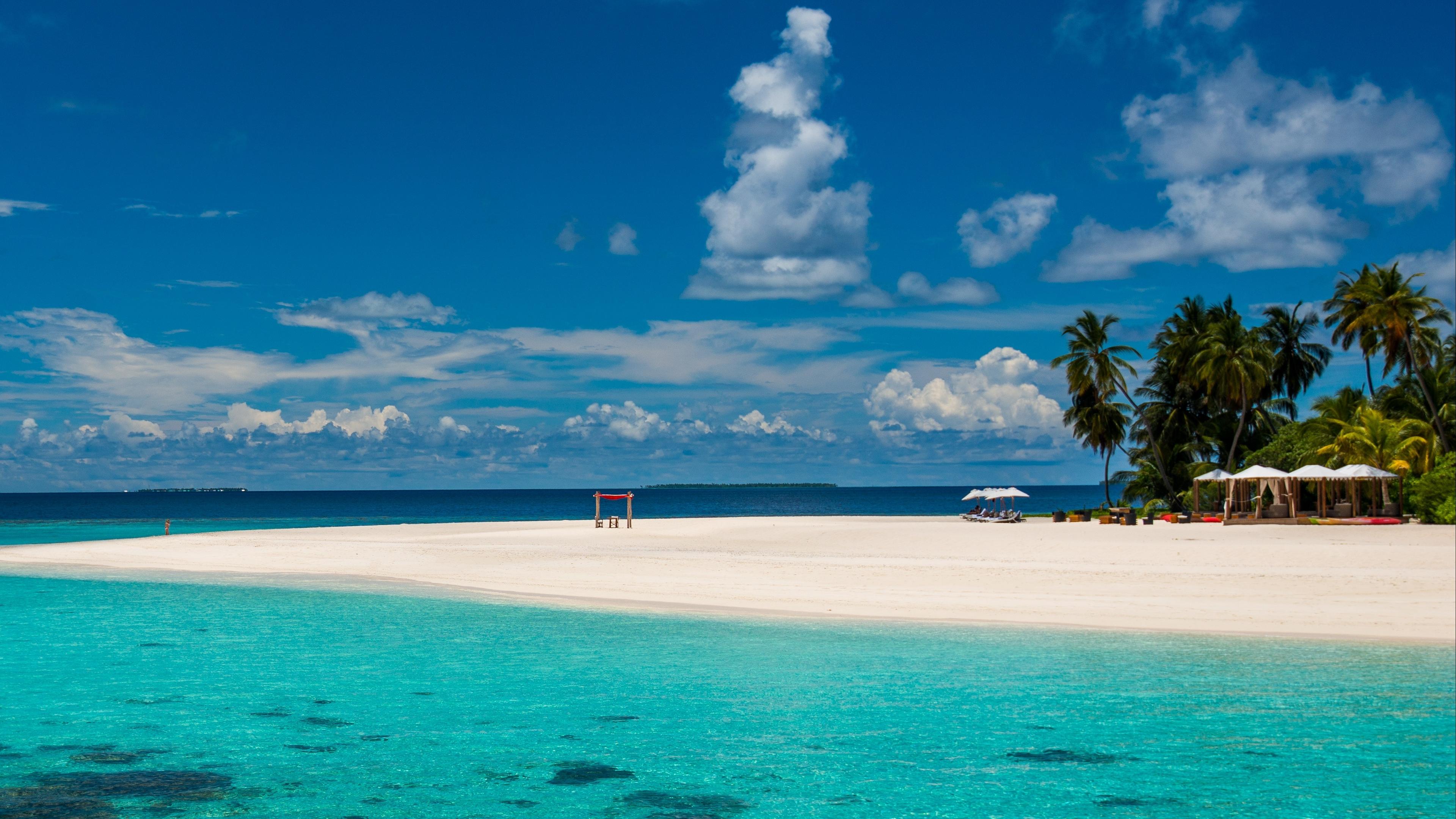 Wallpaper 4k Maldives Tropical Beach 4k Beach Maldives