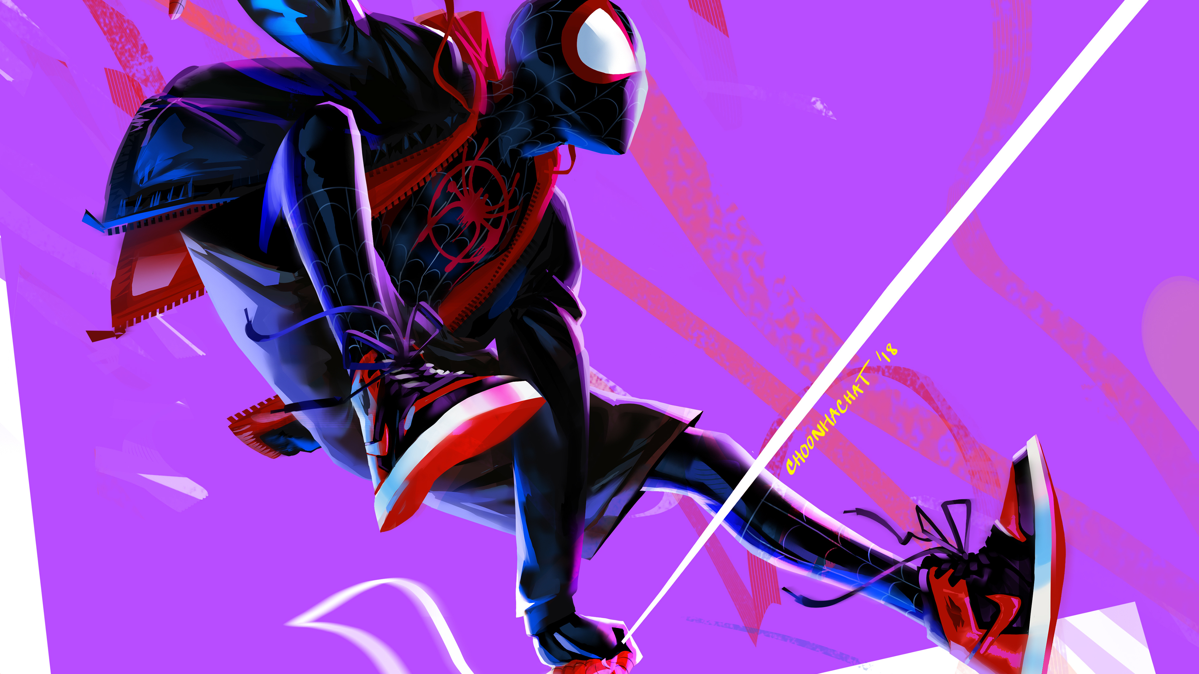 Wallpaper 4k Miles Morales In Spider Man Into The Spider Verse 4k