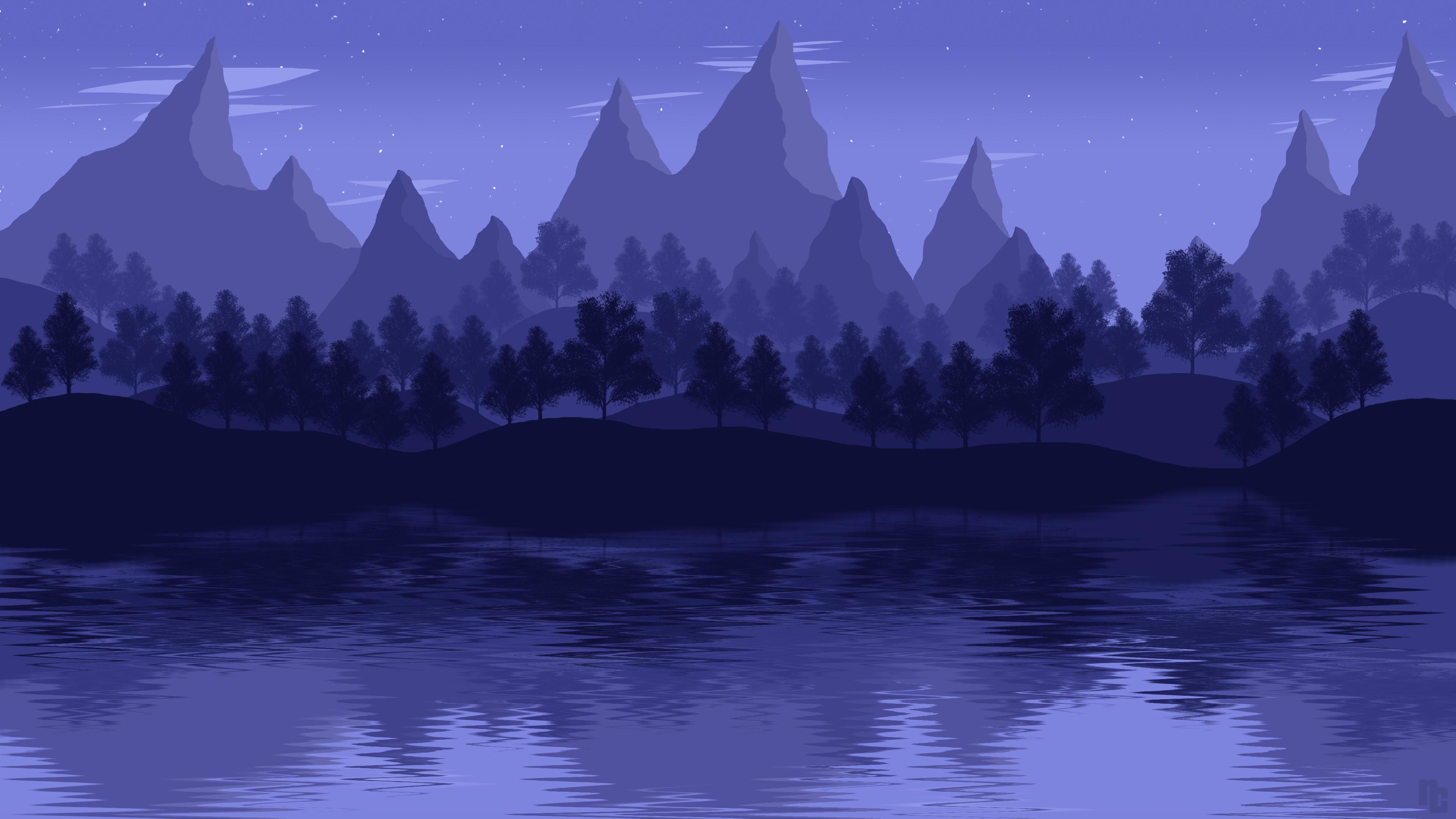 mountain lake landscape 4k 1541970804 - Mountain Lake Landscape 4k - mountains wallpapers, minimalist wallpapers, minimalism wallpapers, landscape wallpapers, lake wallpapers, hd-wallpapers, digital art wallpapers, deviantart wallpapers, artwork wallpapers, artist wallpapers, 4k-wallpapers