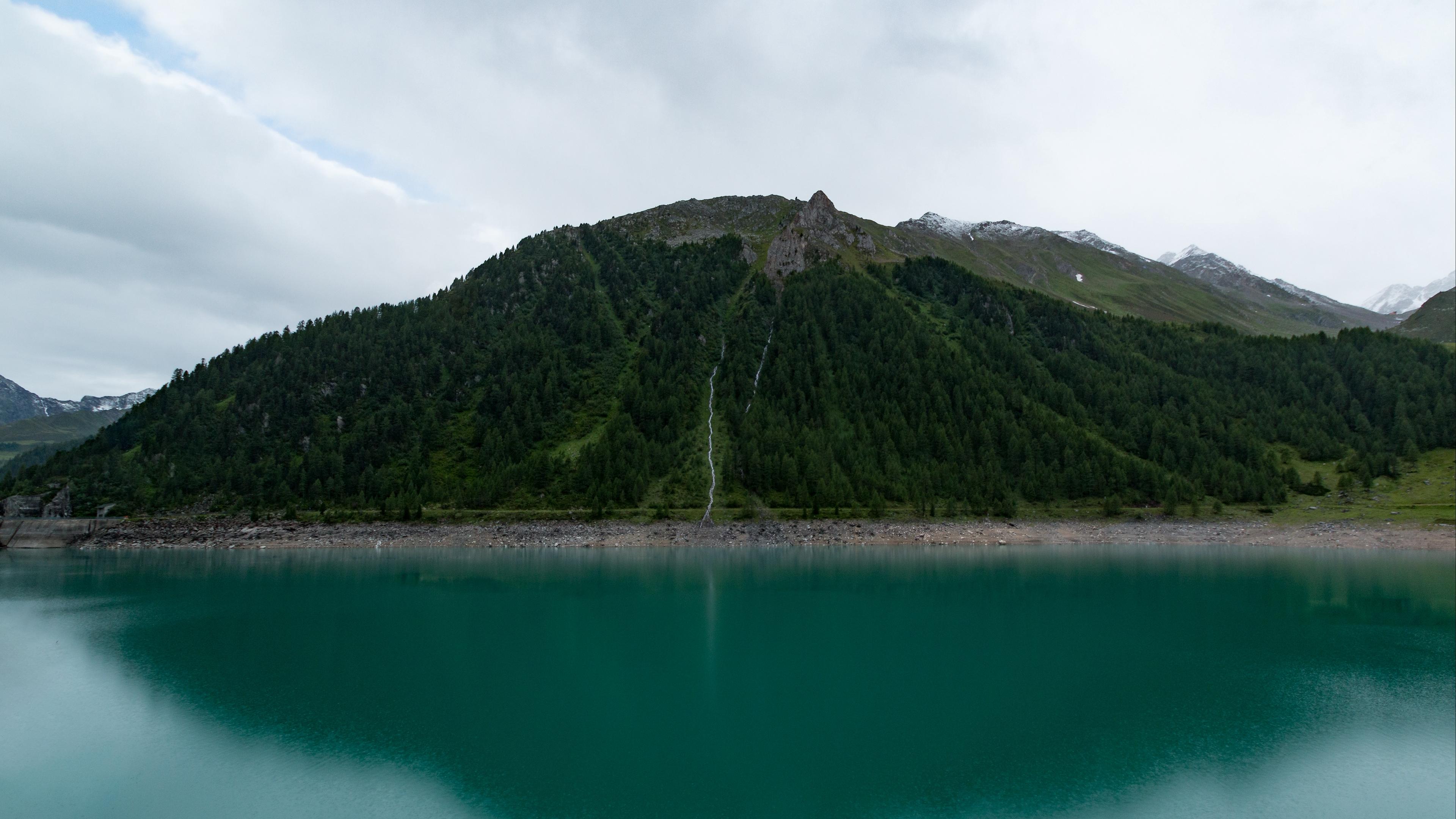 mountain lake sky 4k 1541114578 - mountain, lake, sky 4k - Sky, Mountain, Lake