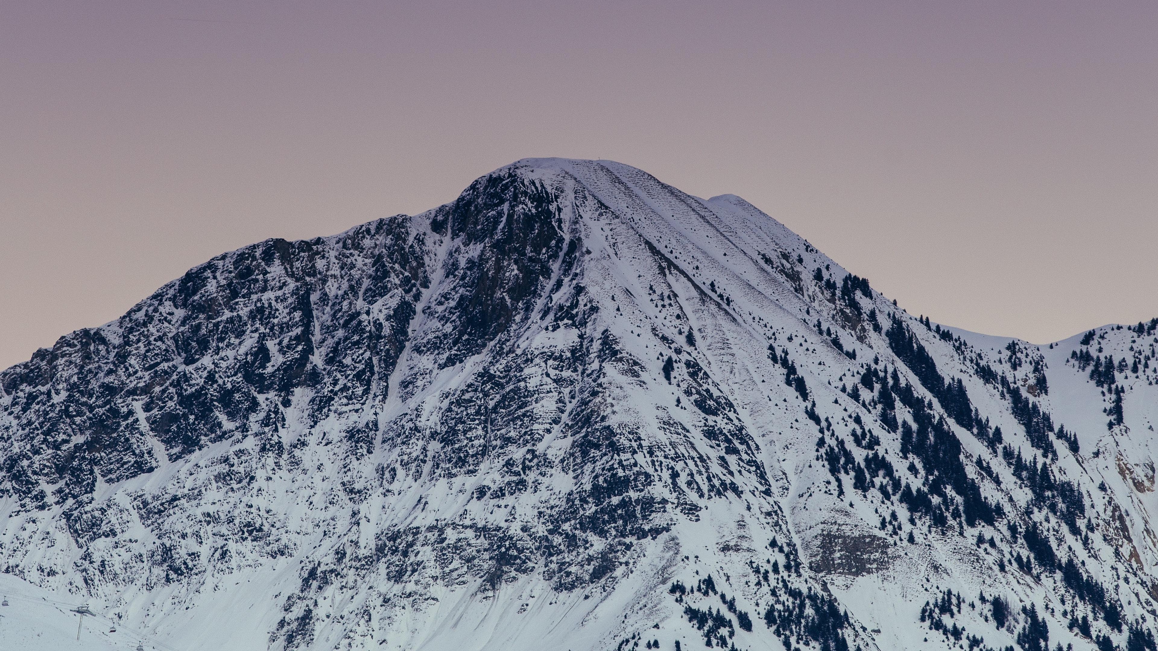 mountain peak snowy snow twilight 4k 1541113723 - mountain, peak, snowy, snow, twilight 4k - Snowy, peak, Mountain