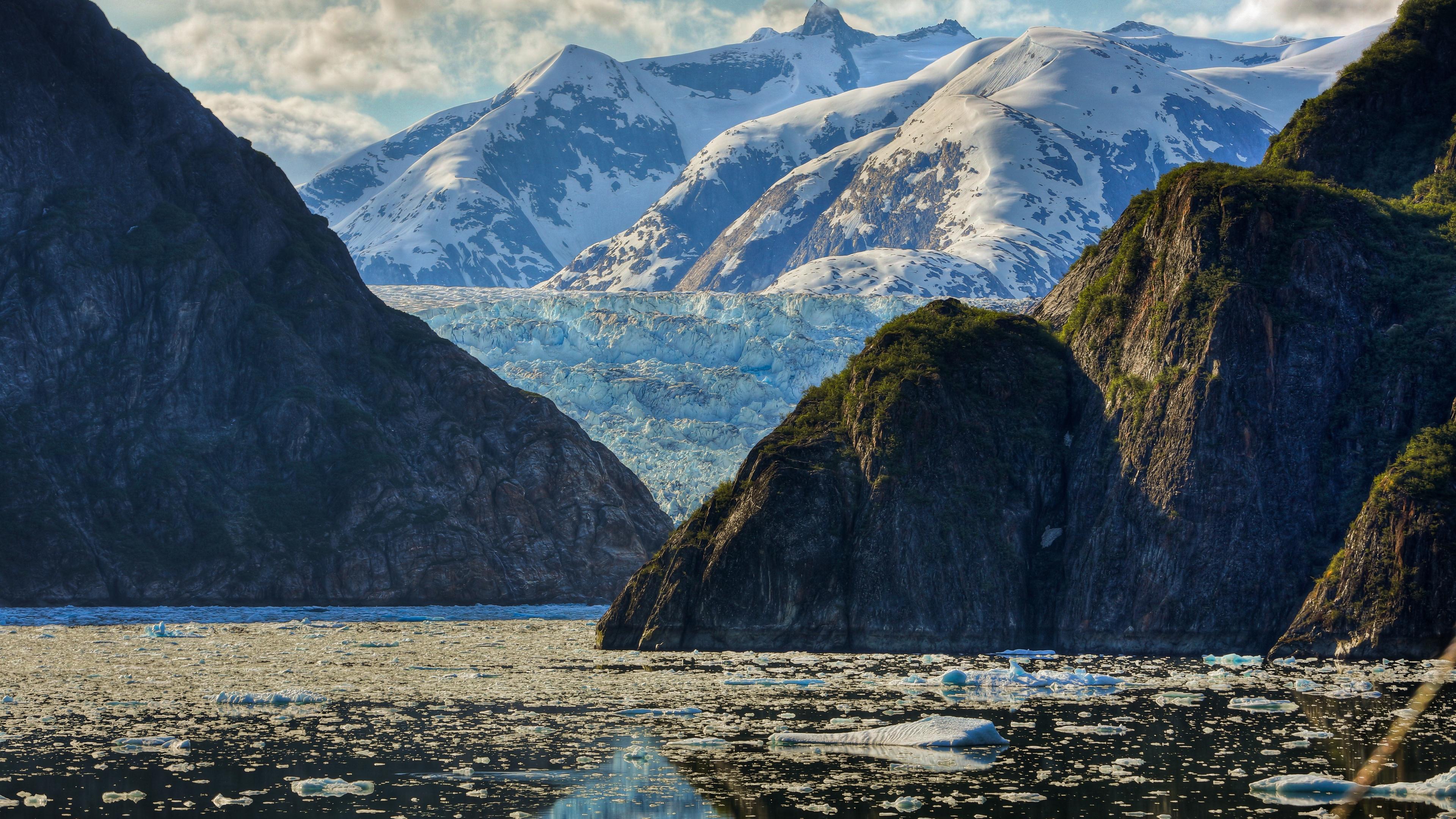 mountain sea glacier 4k 1541117885 - mountain, sea, glacier 4k - Sea, Mountain, Glacier