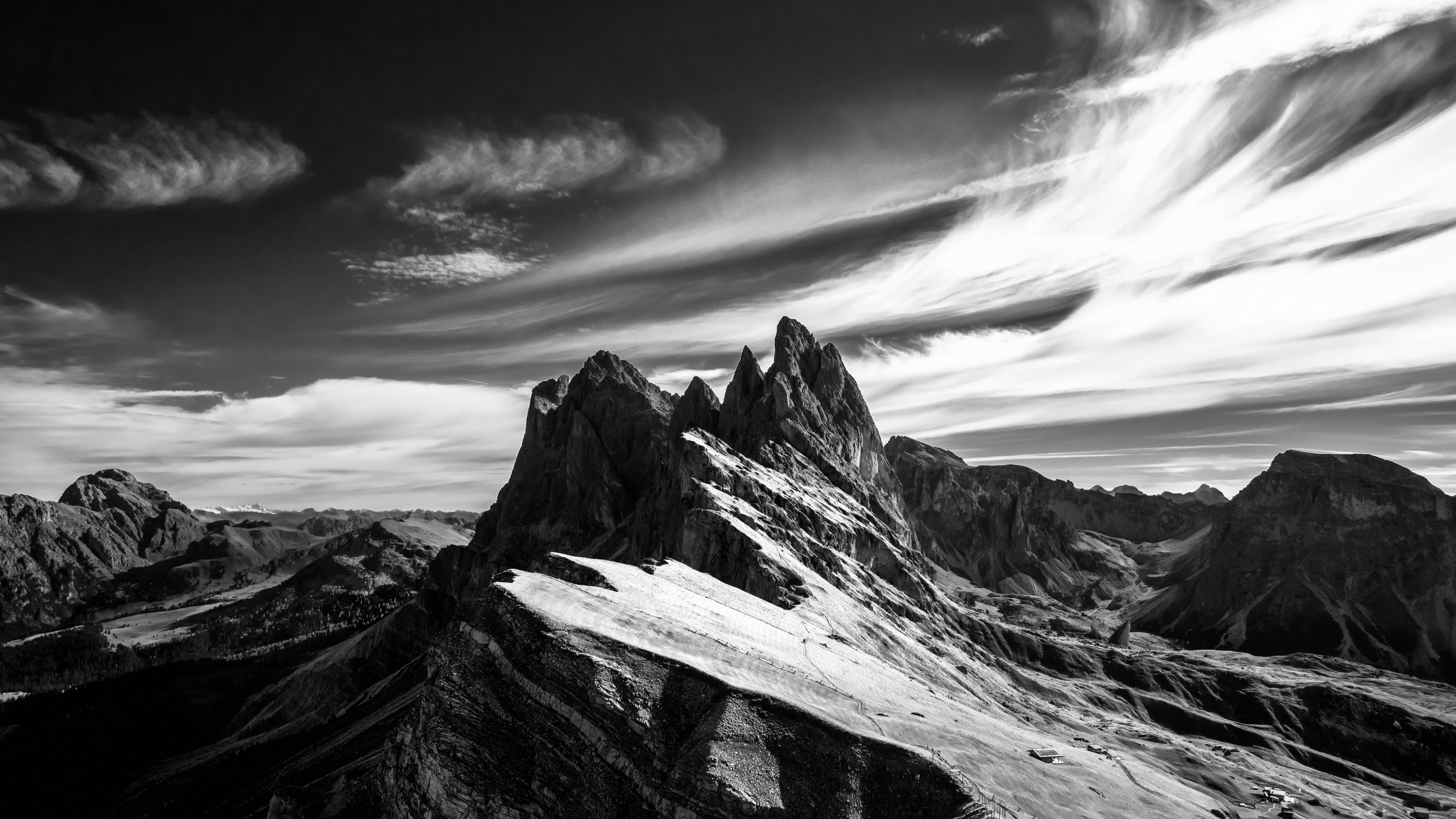 mountain sky bw peak italy 4k 1541113692 - mountain, sky, bw, peak, italy 4k - Sky, Mountain, bw