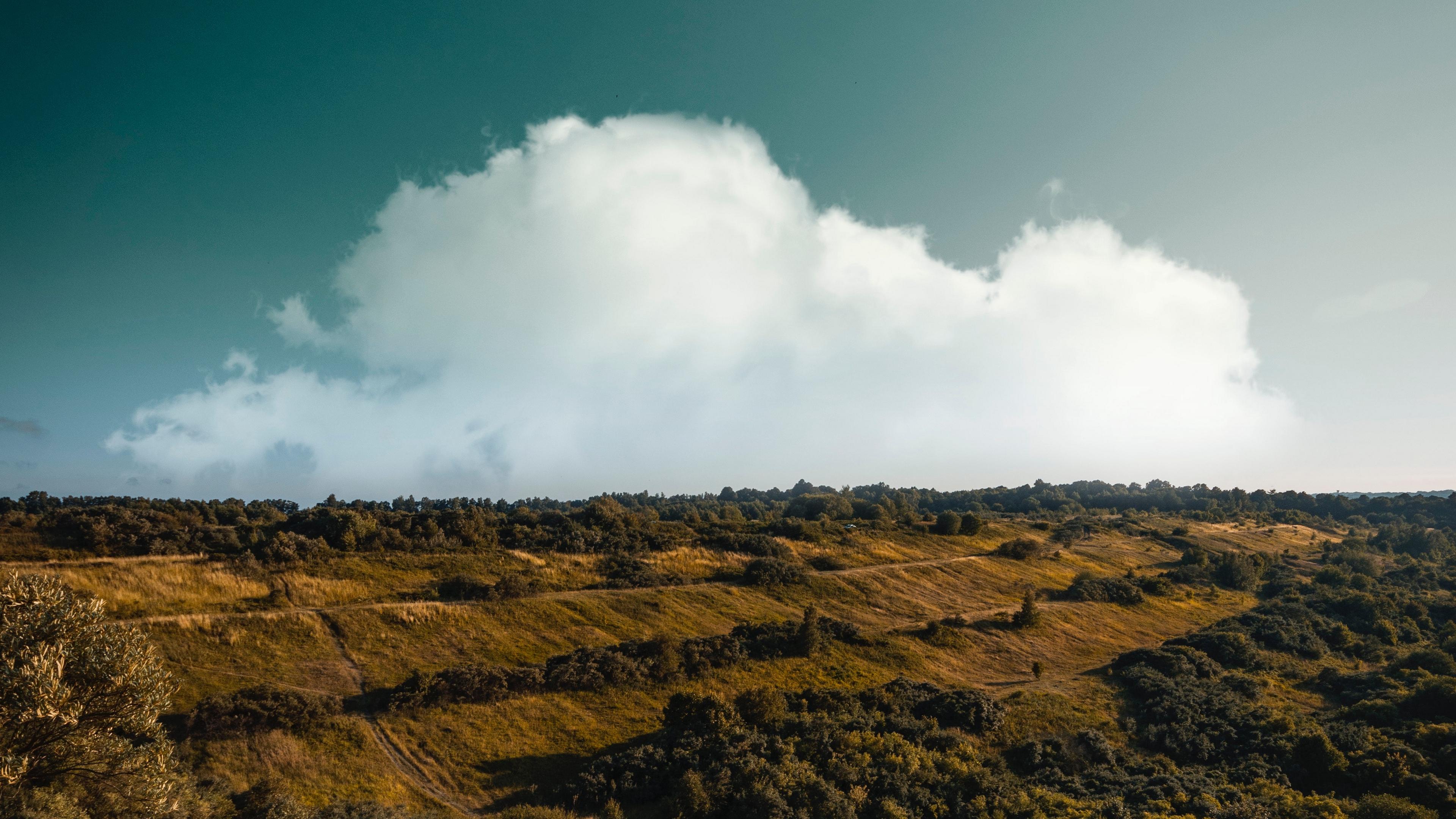 mountain sunrise clouds grass 4k 1541115410 - mountain, sunrise, clouds, grass 4k - sunrise, Mountain, Clouds