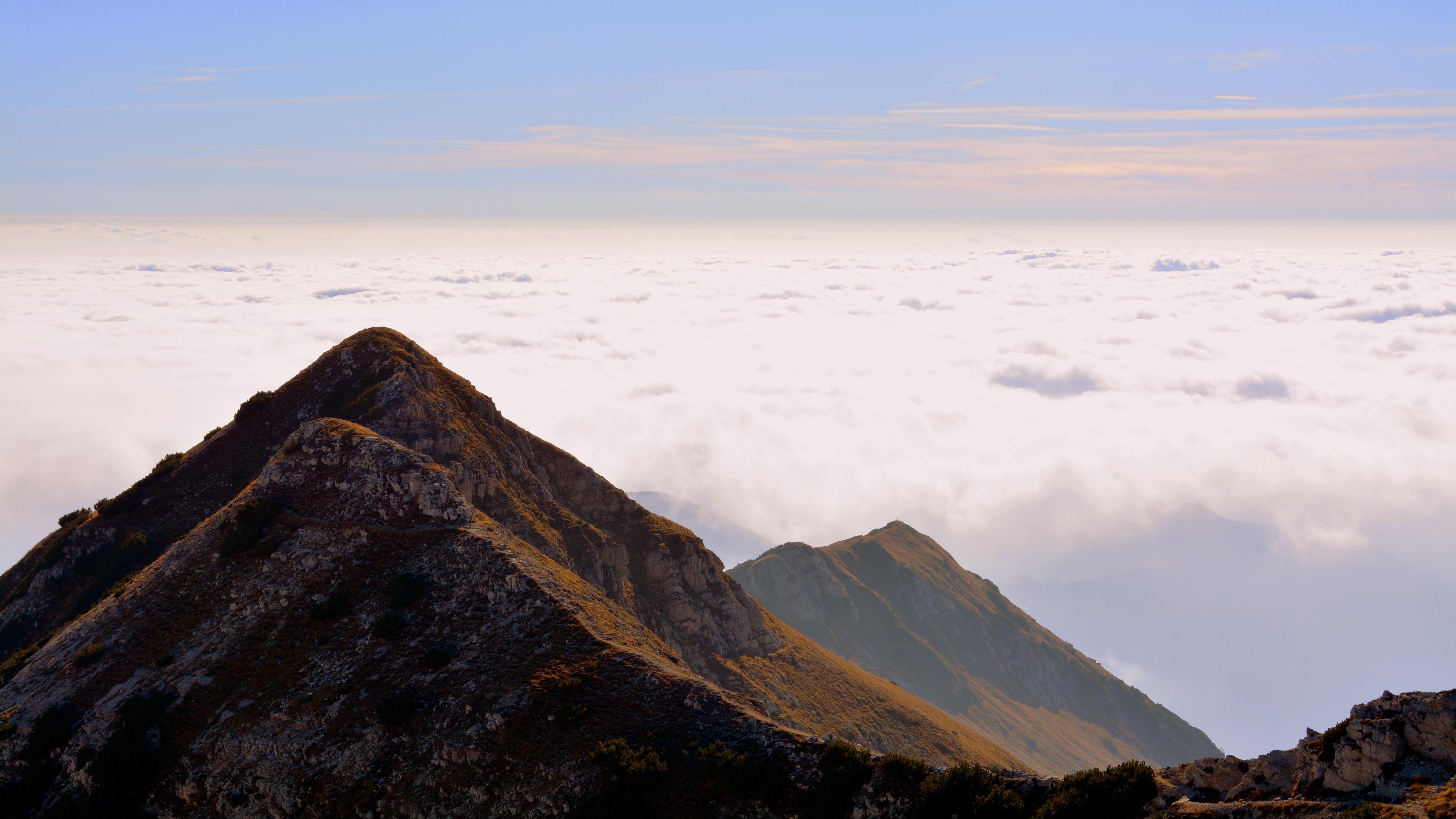mountain top sky clouds carrega ligure italy 4k 1541116281 - mountain, top, sky, clouds, carrega ligure, italy 4k - top, Sky, Mountain