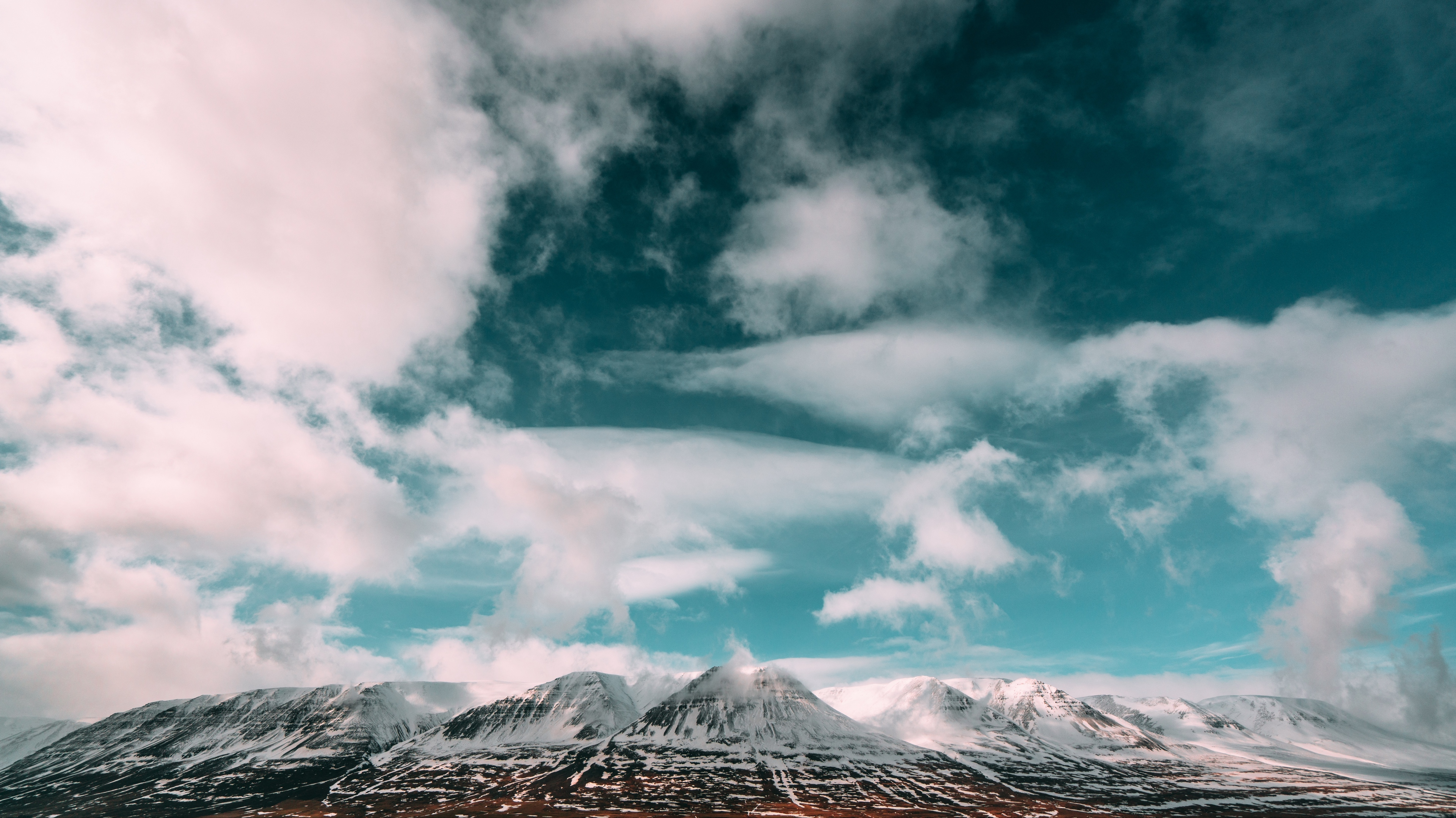 mountains clouds sky iceland 4k 1541117297 - mountains, clouds, sky, iceland 4k - Sky, Mountains, Clouds