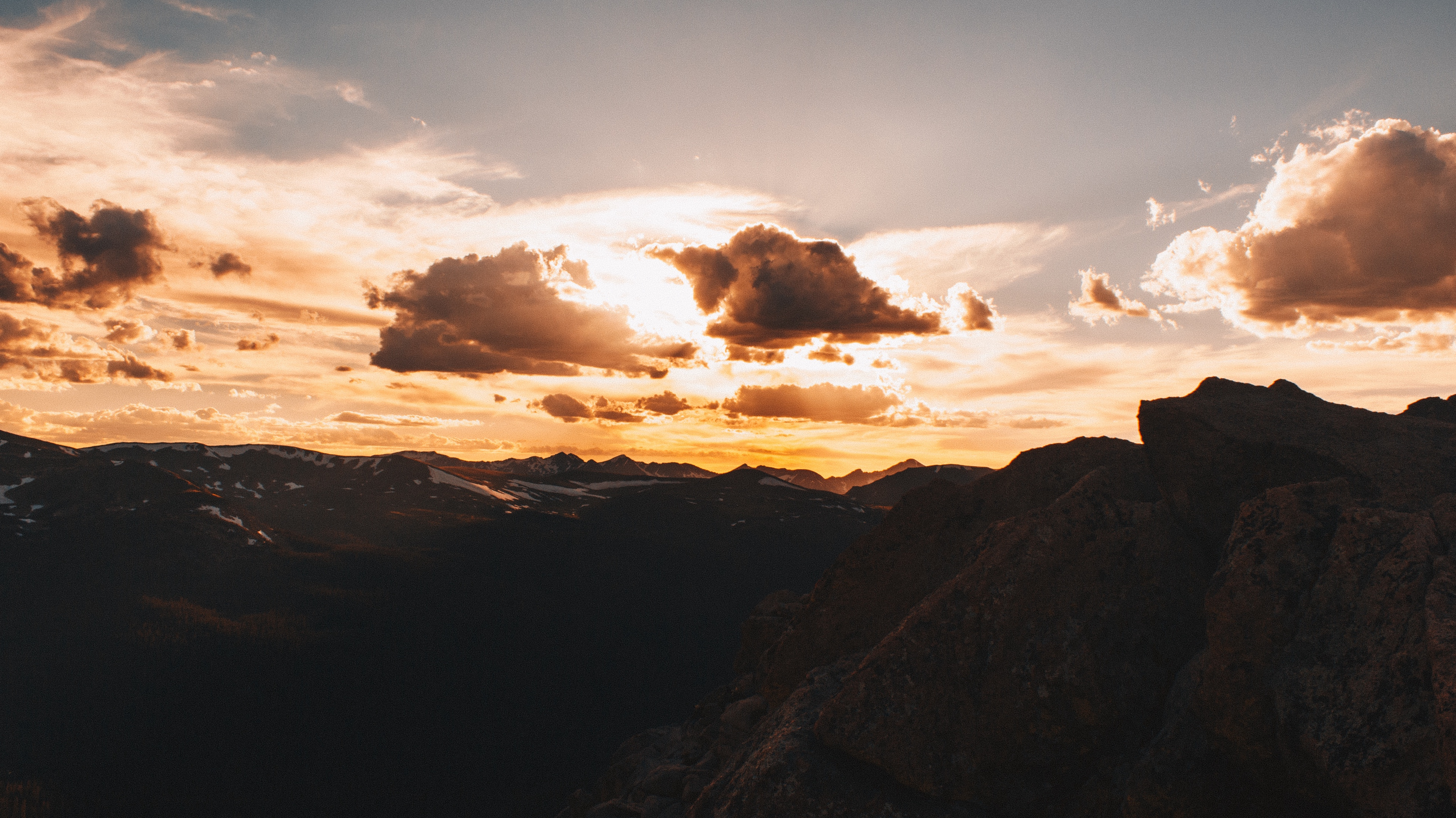 mountains clouds sky sunset 4k 1541115010 - mountains, clouds, sky, sunset 4k - Sky, Mountains, Clouds