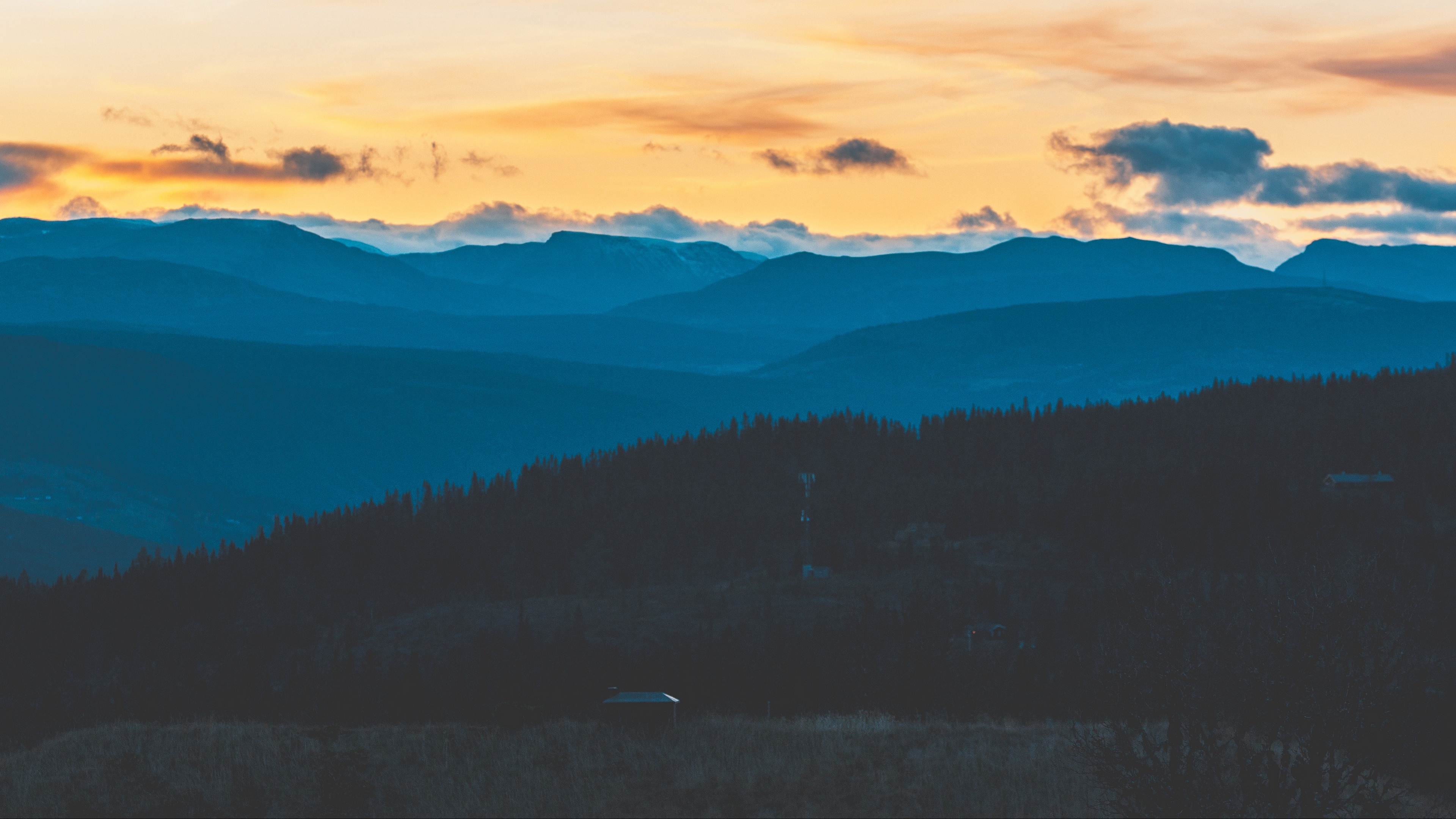 mountains evening sky clouds 4k 1541116622 - mountains, evening, sky, clouds 4k - Sky, Mountains, Evening