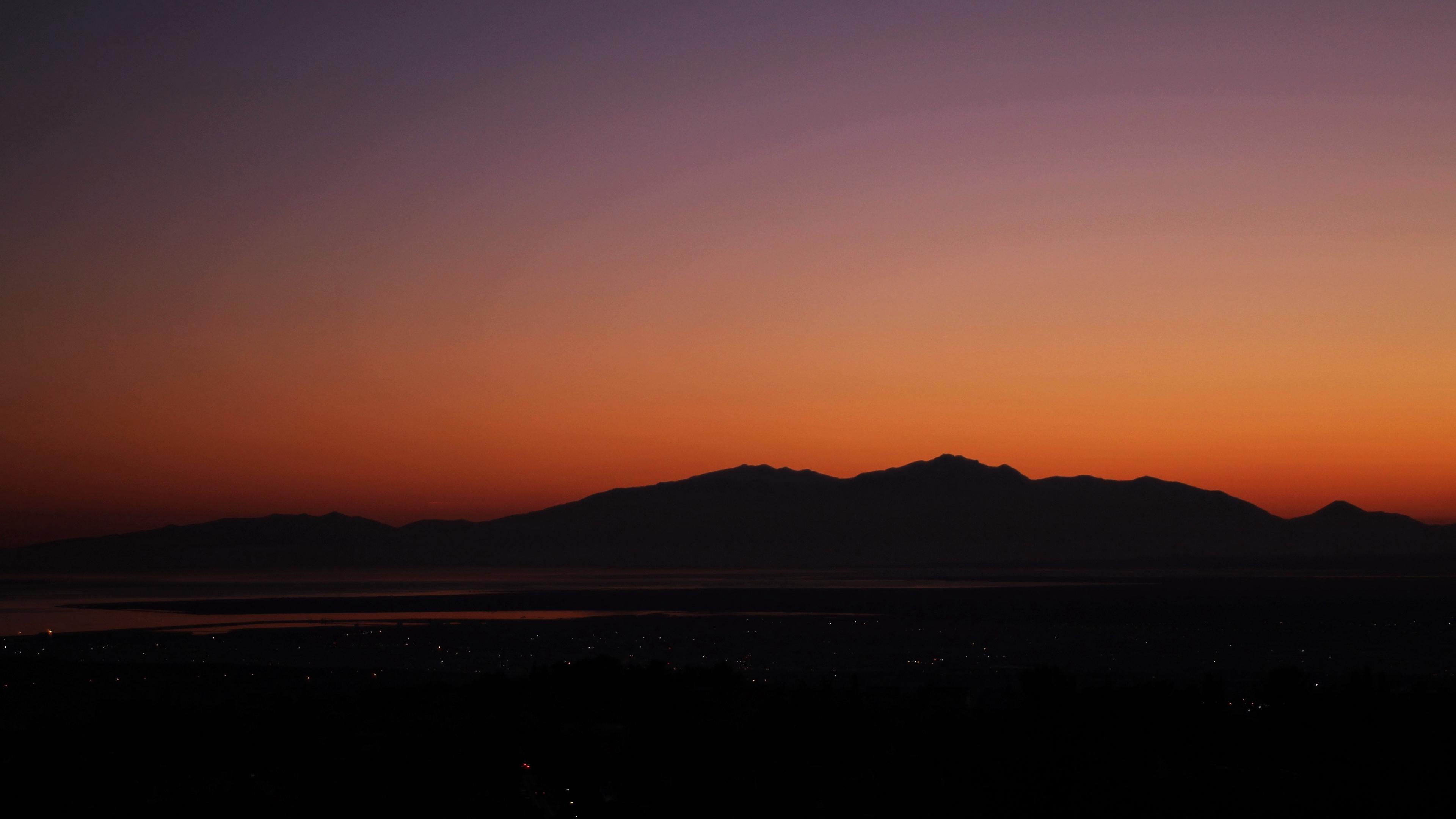 mountains horizon sunset sky 4k 1541117461 - mountains, horizon, sunset, sky 4k - sunset, Mountains, Horizon