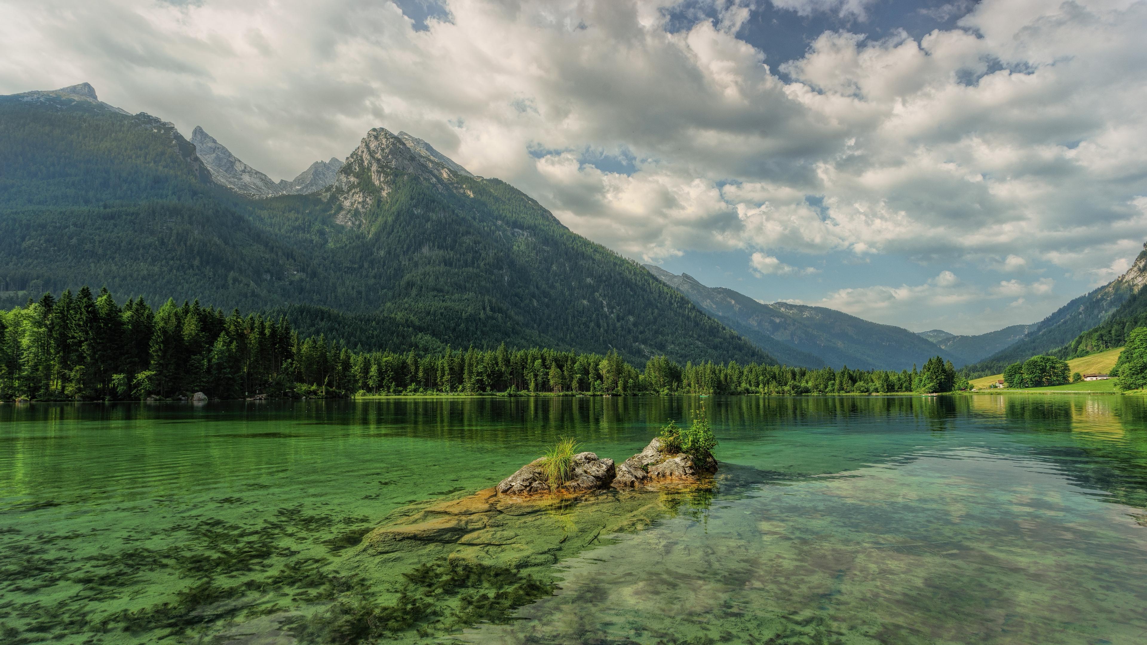 mountains lake hintersee austria 4k 1541117901 - mountains, lake, hintersee, austria 4k - Mountains, Lake, hintersee