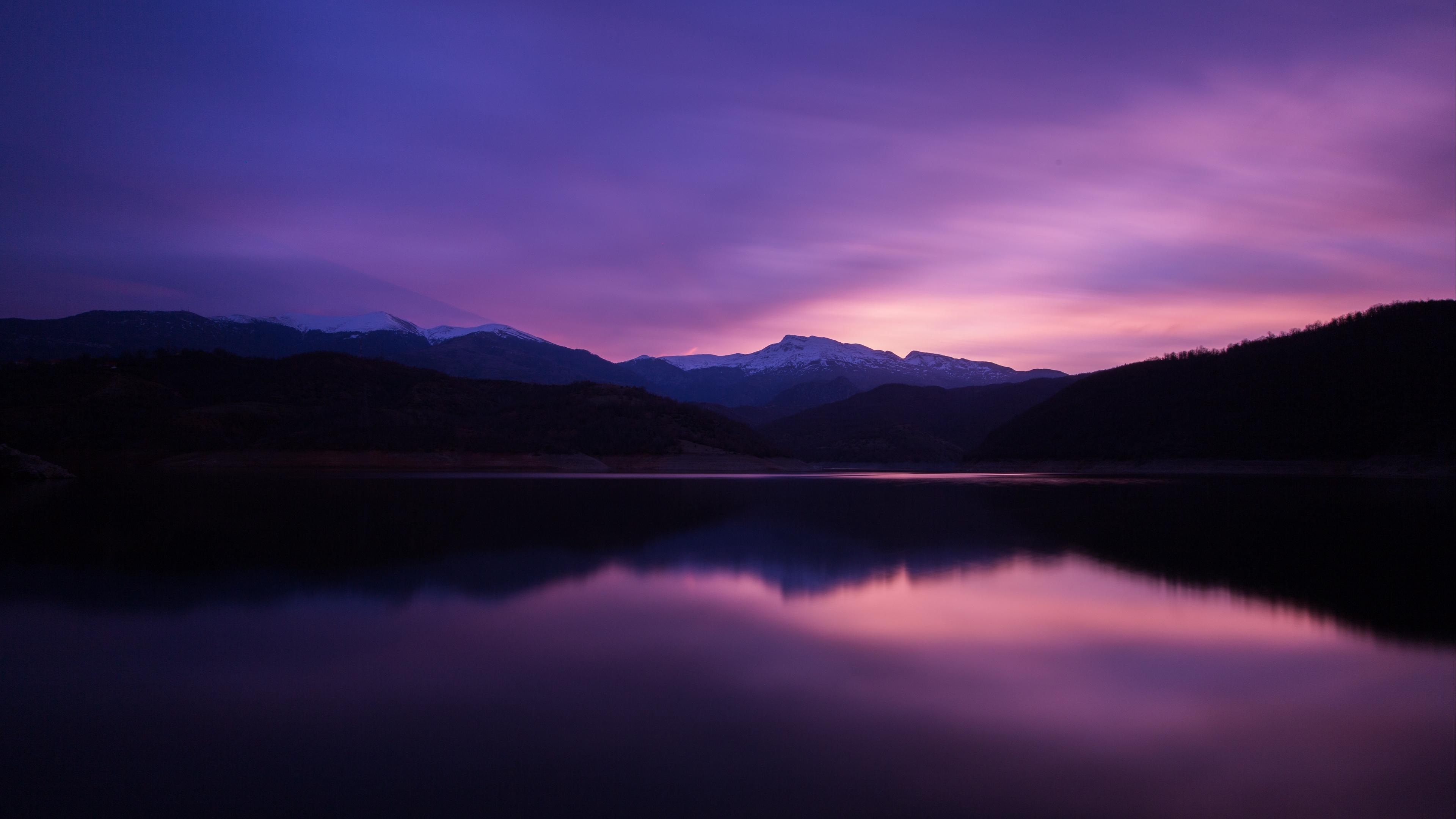 mountains lake night reflection 4k 1541115017 - mountains, lake, night, reflection 4k - Night, Mountains, Lake