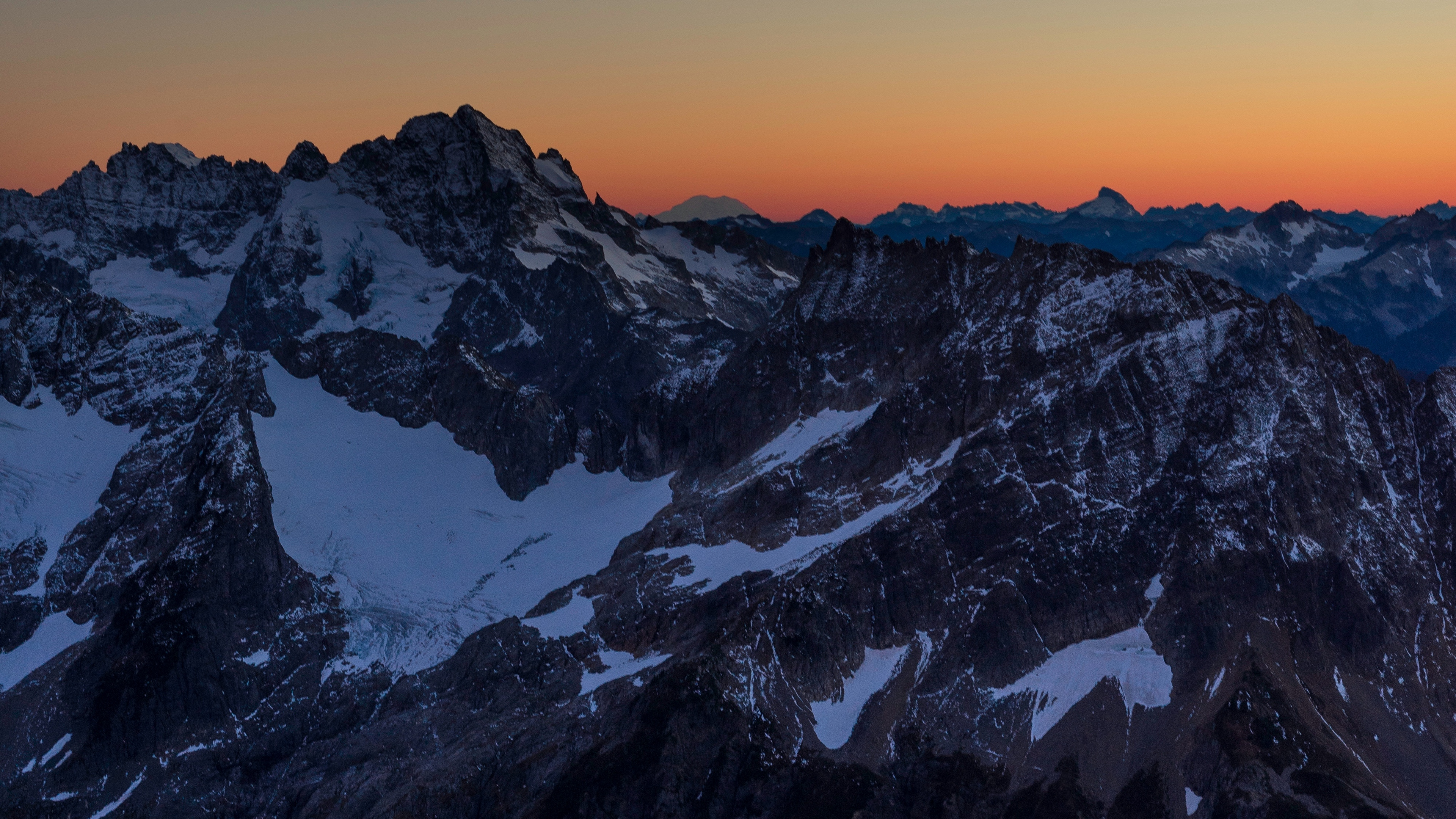 mountains peaks snowy sunset evening sky 4k 1541113735 - mountains, peaks, snowy, sunset, evening, sky 4k - Snowy, Peaks, Mountains