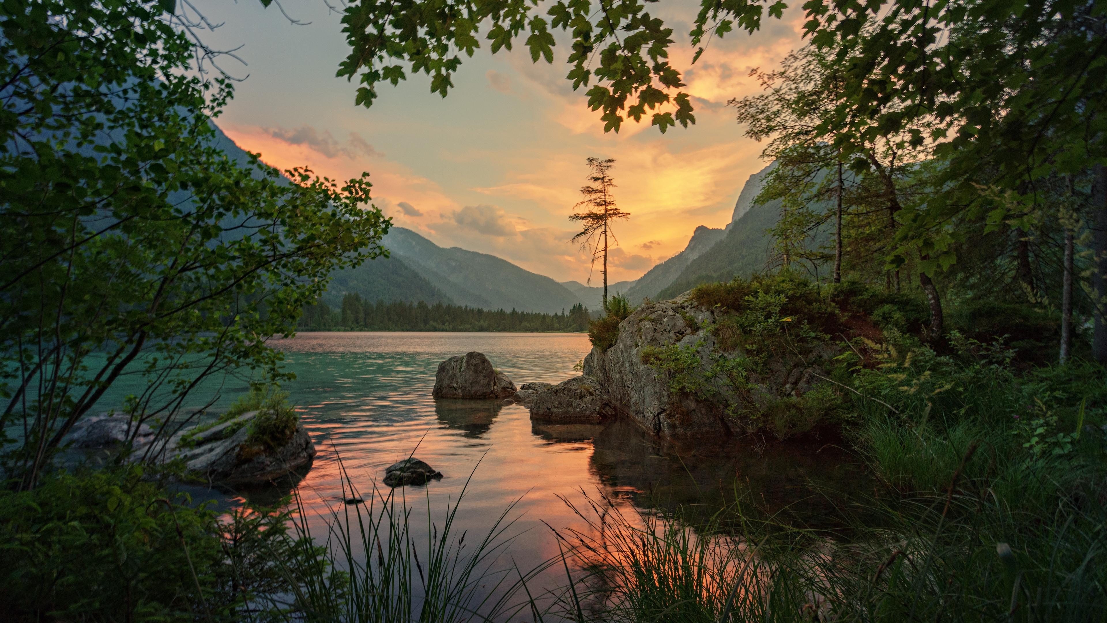 mountains river trees stones 4k 1541117491 - mountains, river, trees, stones 4k - Trees, River, Mountains