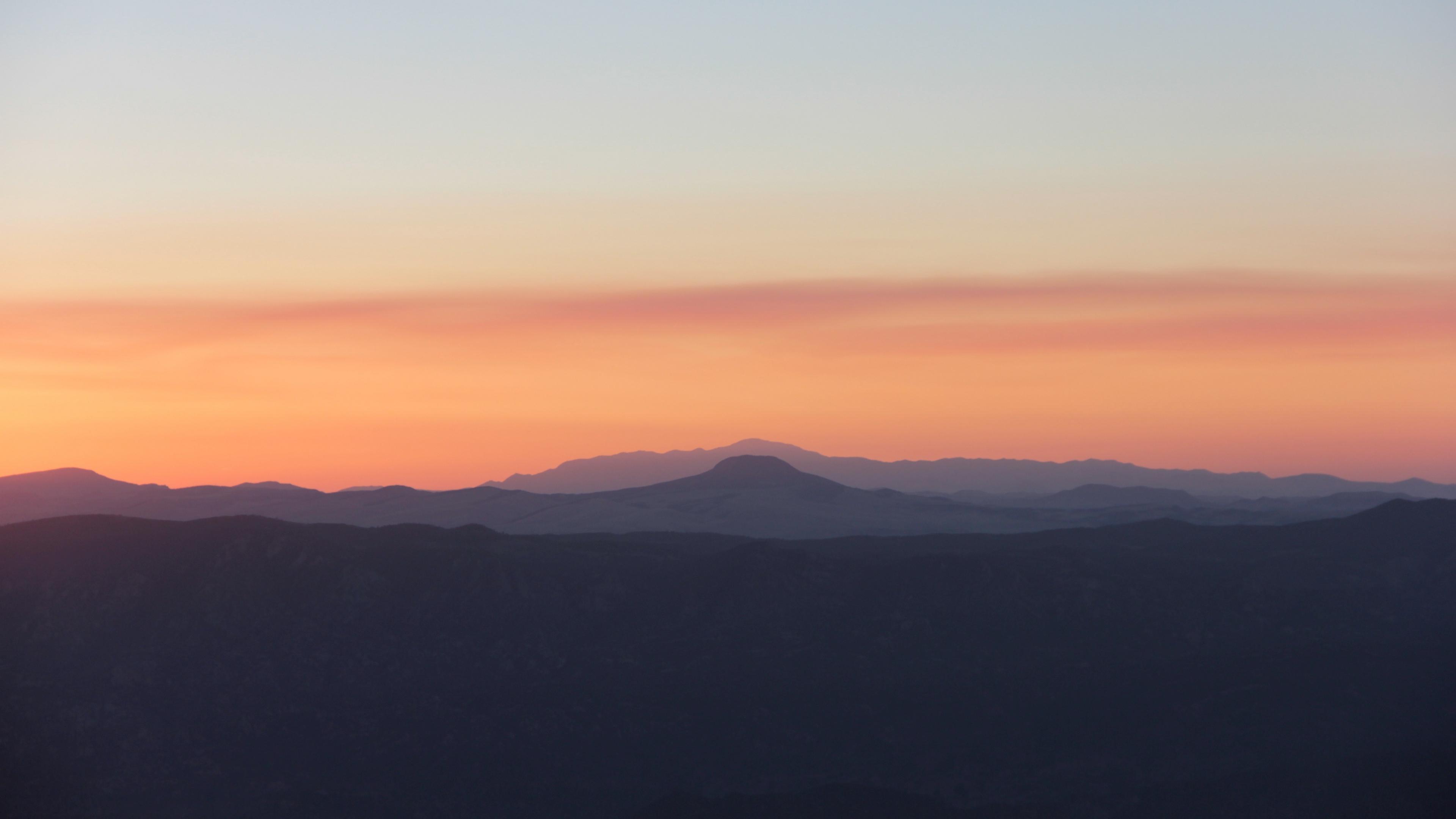 mountains skyline sunrise 4k 1541114060 - mountains, skyline, sunrise 4k - sunrise, Skyline, Mountains