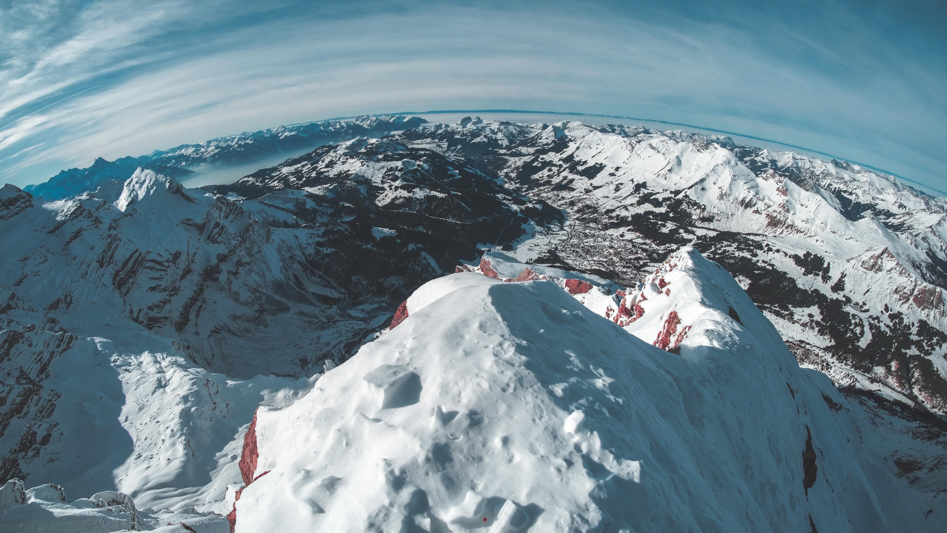 mountains snow winter top 4k 1541116172 - mountains, snow, winter, top 4k - Winter, Snow, Mountains