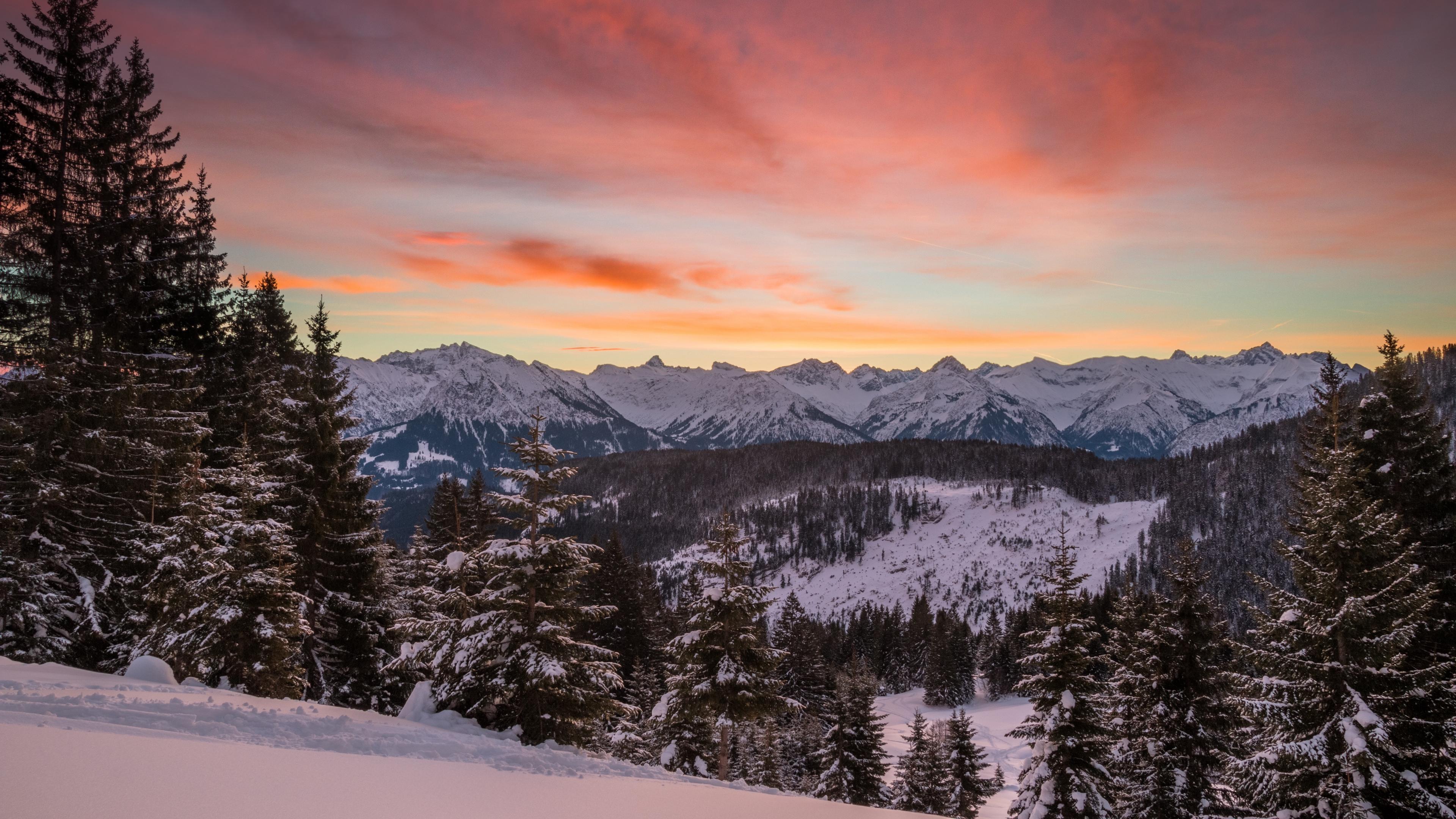 mountains winter snow fir trees trees hills 4k 1541113530 - mountains, winter, snow, fir-trees, trees, hills 4k - Winter, Snow, Mountains