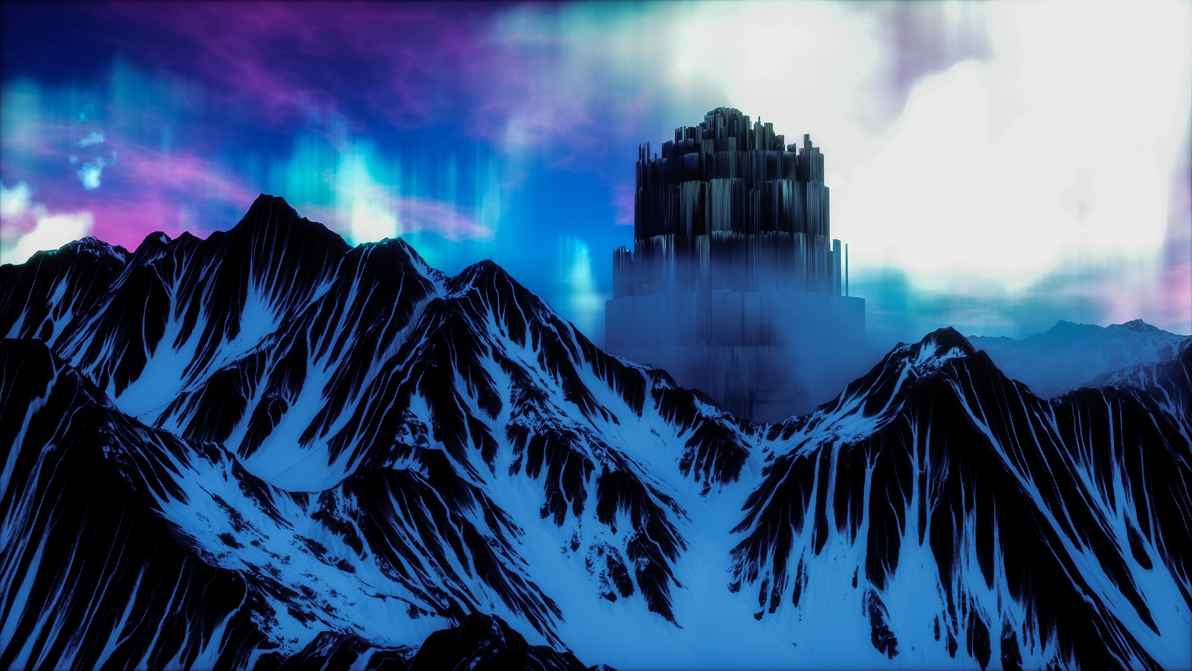 northern lights aurora art structure 4k 1541971450 - northern lights, aurora, art, structure 4k - northern lights, Aurora, art