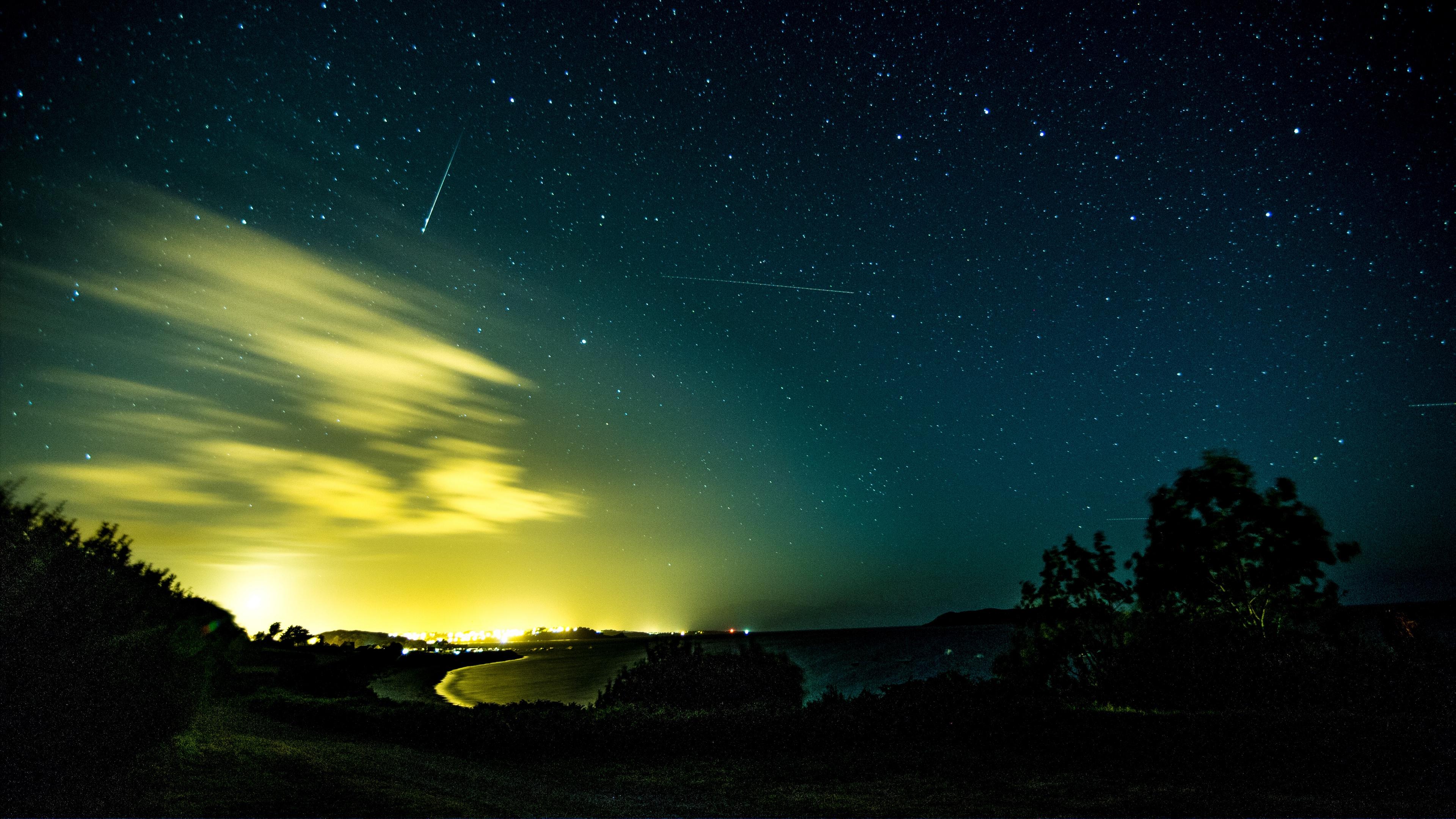 northern lights aurora starry sky night night sky 4k 1541117899 - northern lights, aurora, starry sky, night, night sky 4k - starry sky, northern lights, Aurora