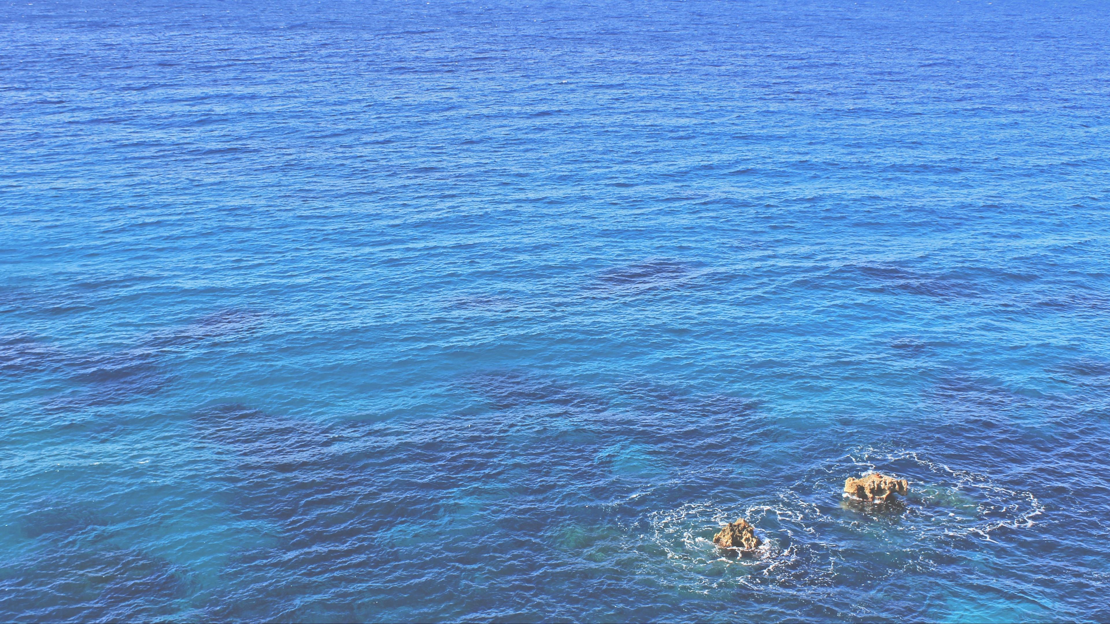 ocean rocks blue 4k 1541116098 - ocean, rocks, blue 4k - Rocks, Ocean, blue
