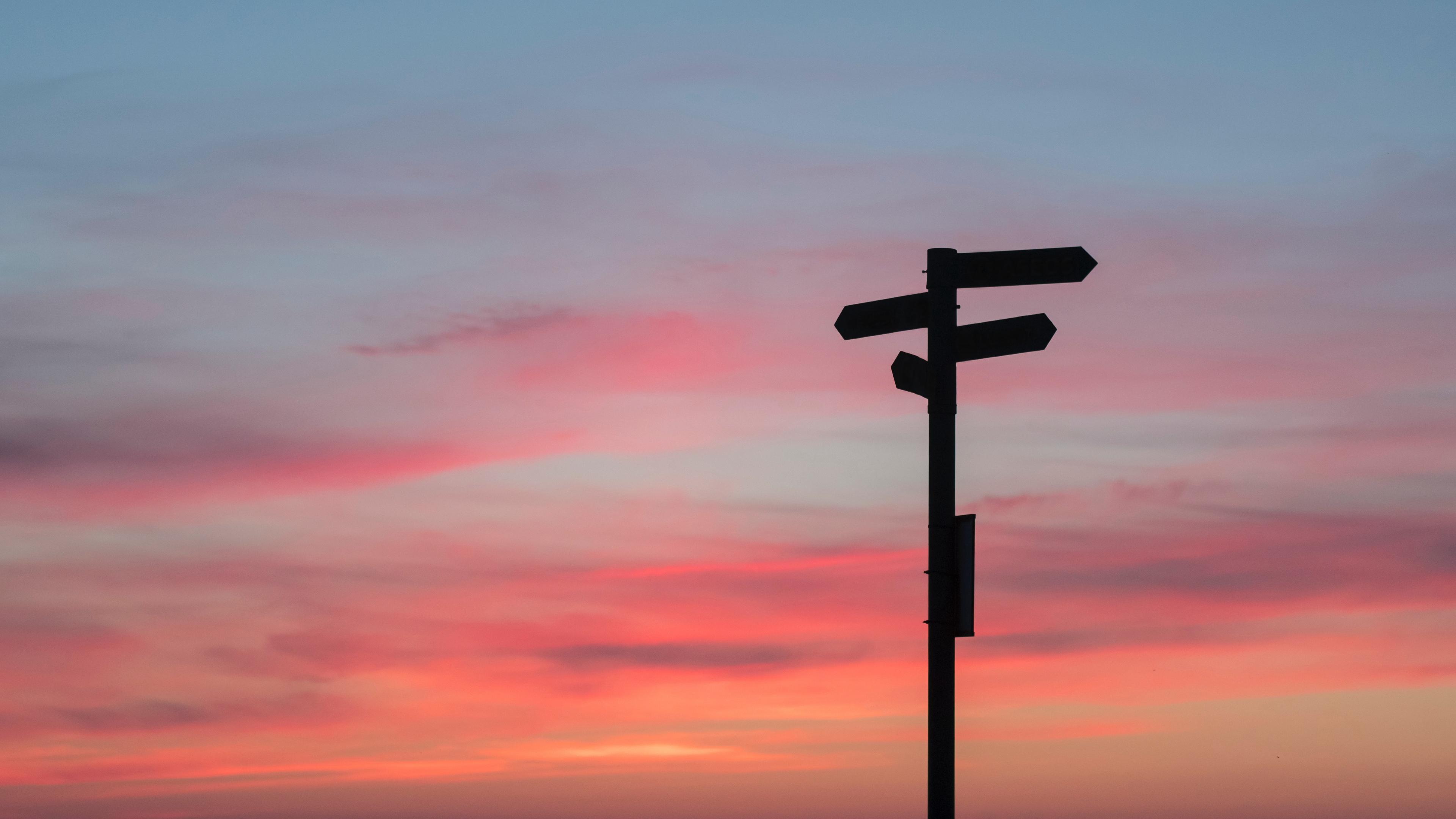 pointer arrow choice direction sunset 4k 1541113483 - pointer, arrow, choice, direction, sunset 4k - pointer, Choice, Arrow