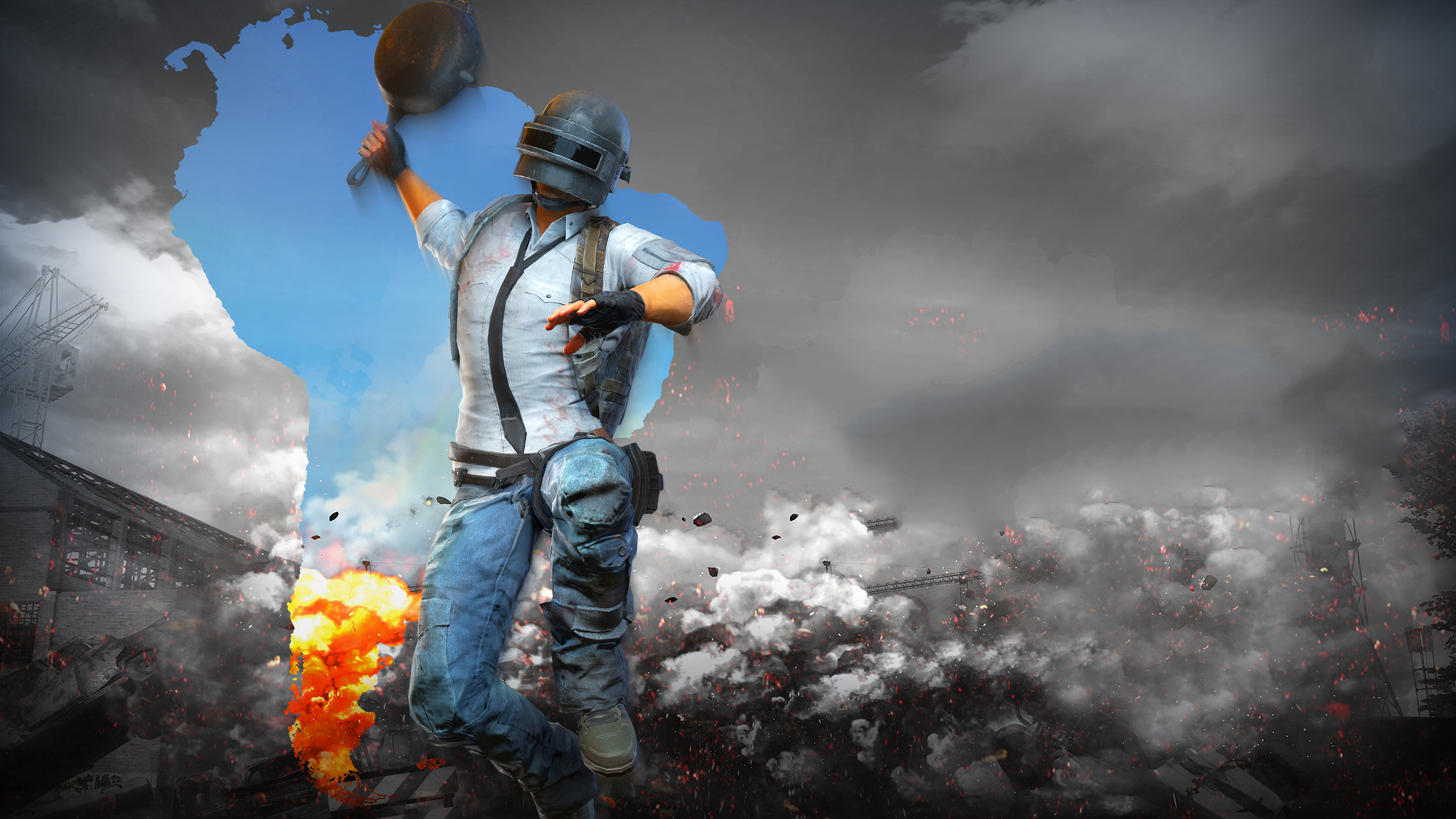 Pubg Wallpapers Ipad: PUBG Helmet Man With Pan 4k Pubg Wallpapers