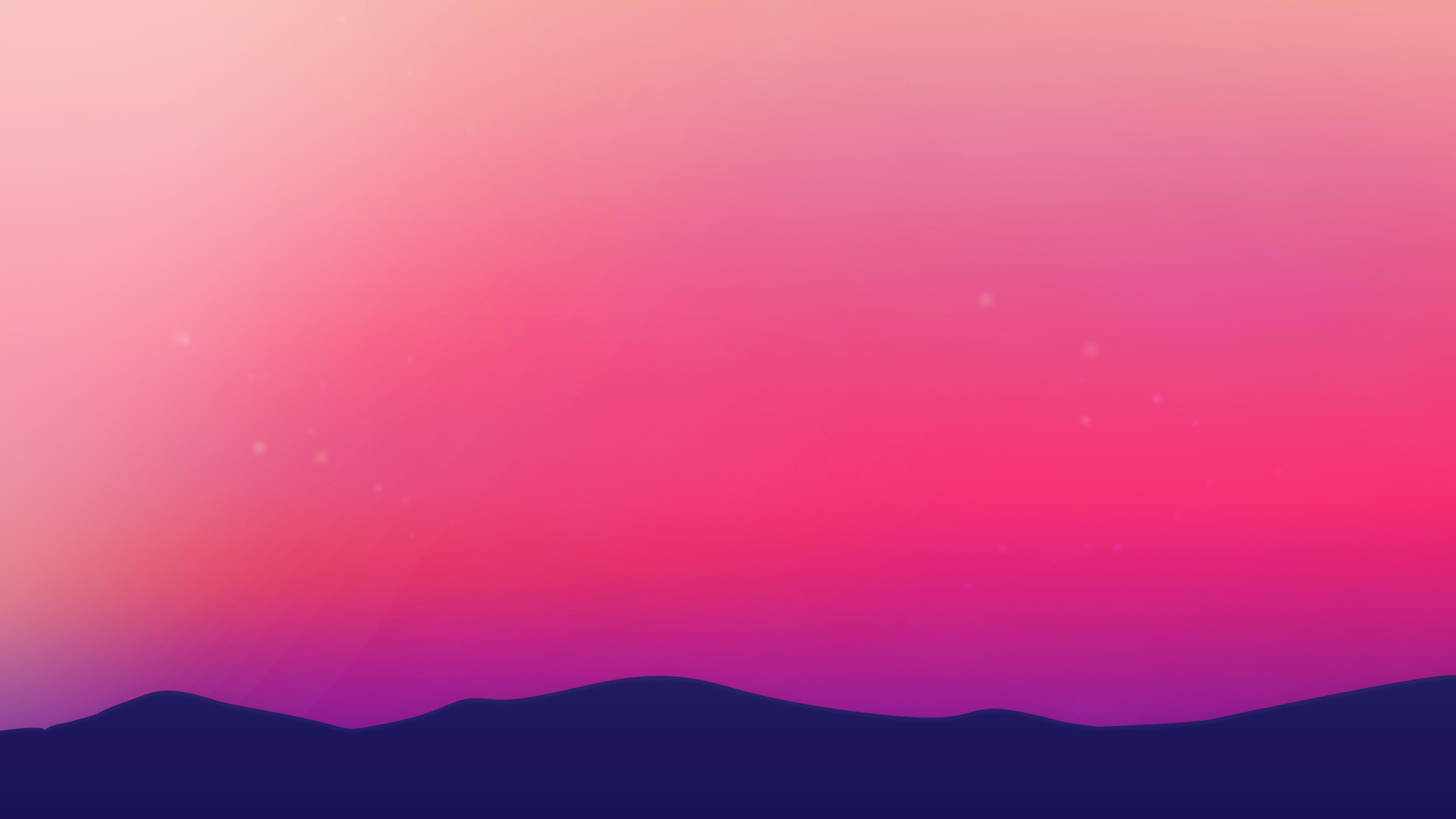 Wallpaper 4k Purple Landscape Scenery Minimalist 4k 4k