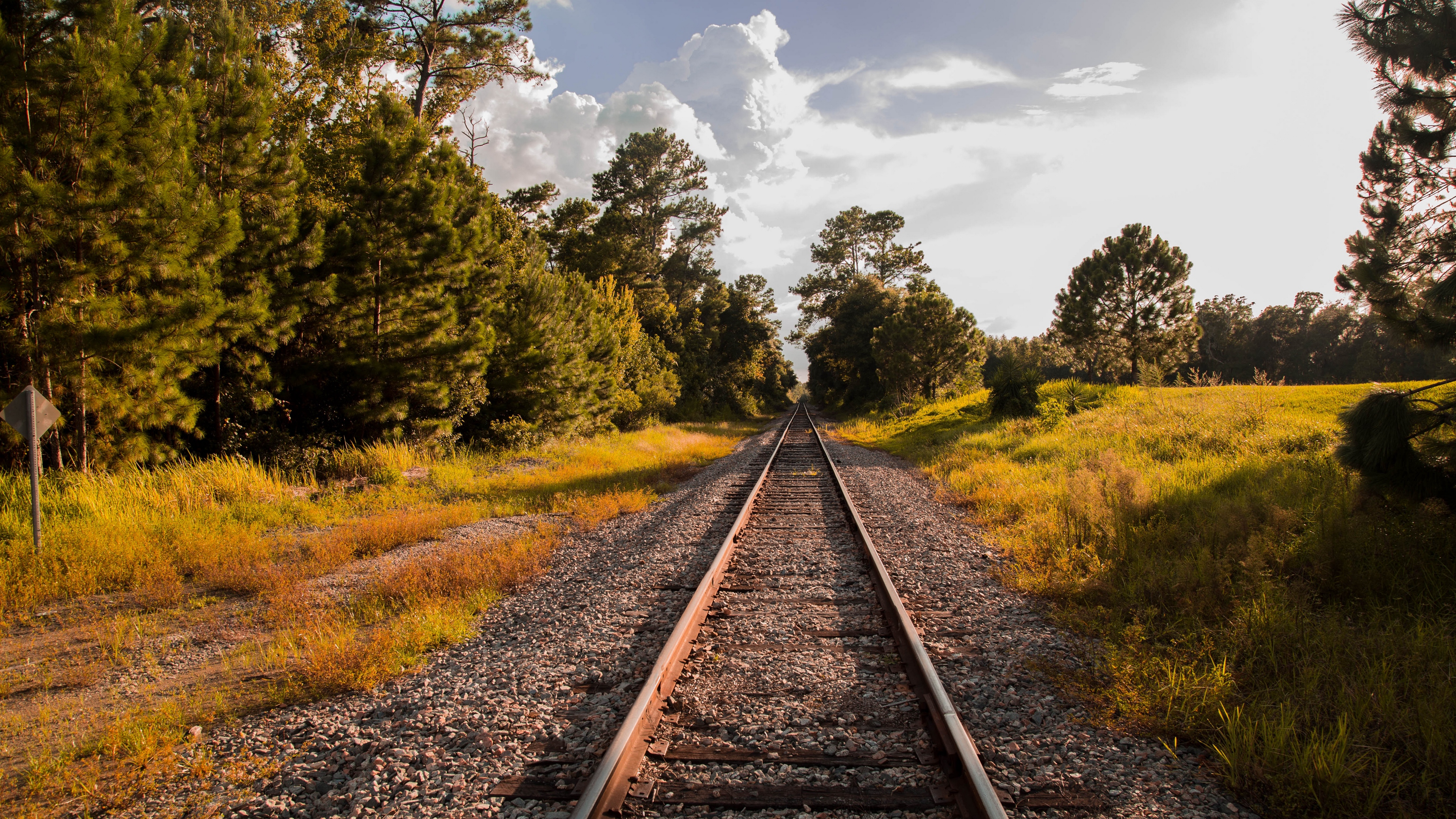 railway grass sky summer 4k 1541116130 - railway, grass, sky, summer 4k - Sky, railway, Grass