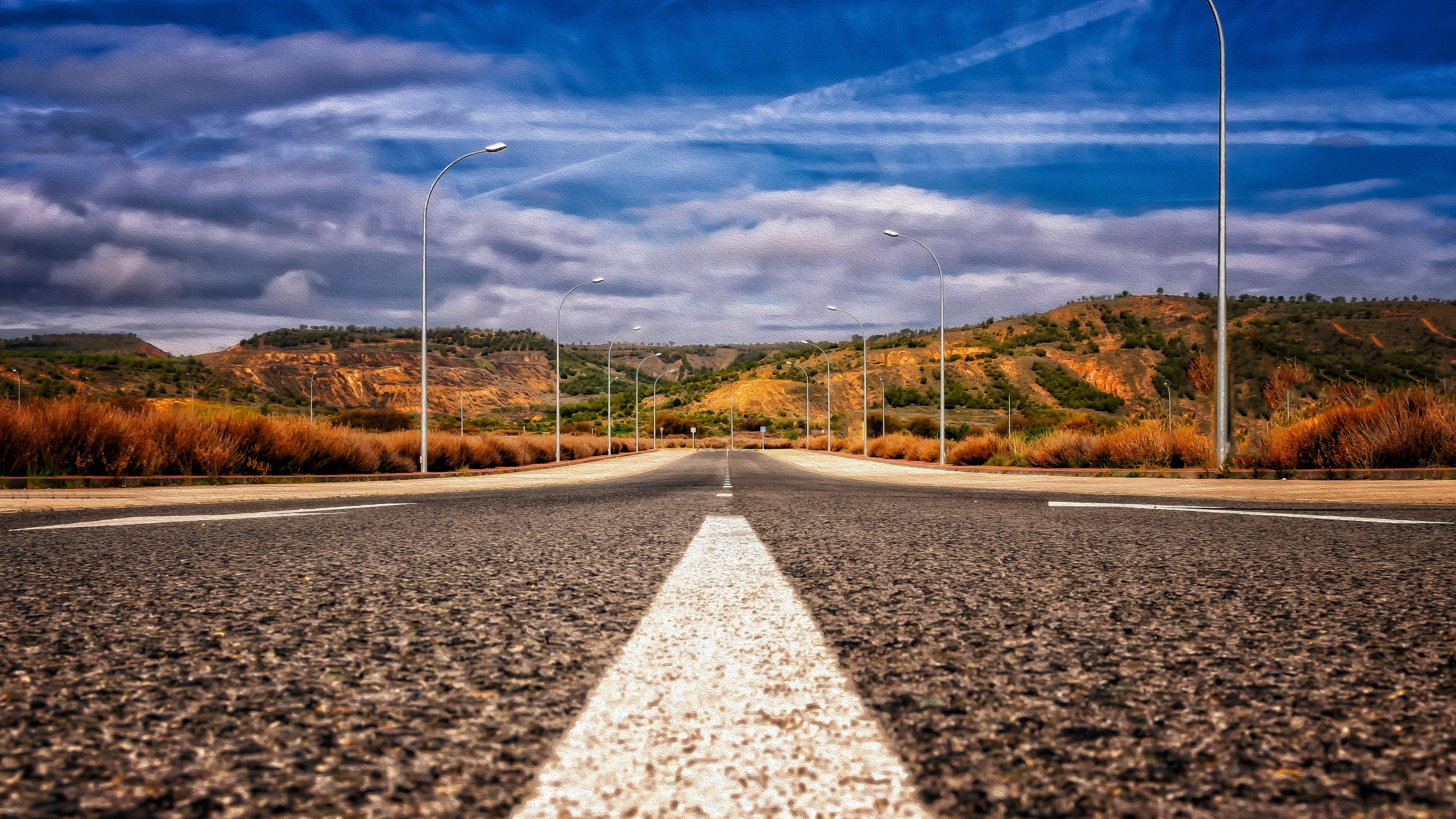 road asphalt marking mountains direction 4k 1541116678 - road, asphalt, marking, mountains, direction 4k - Road, marking, asphalt