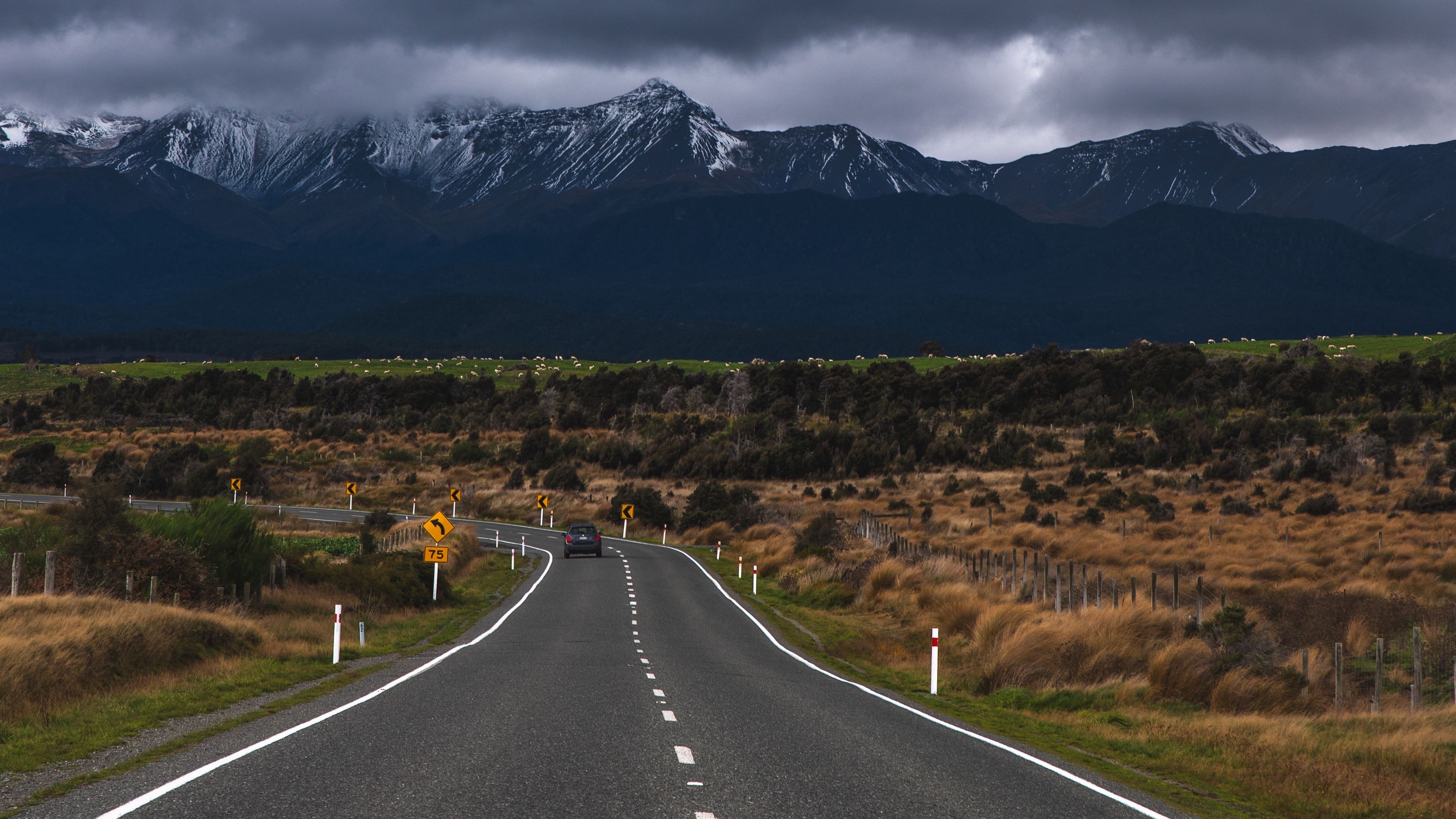 road counting mountain te anau new zealand 4k 1541115429 - road, counting, mountain, te anau, new zealand 4k - Road, Mountain, counting