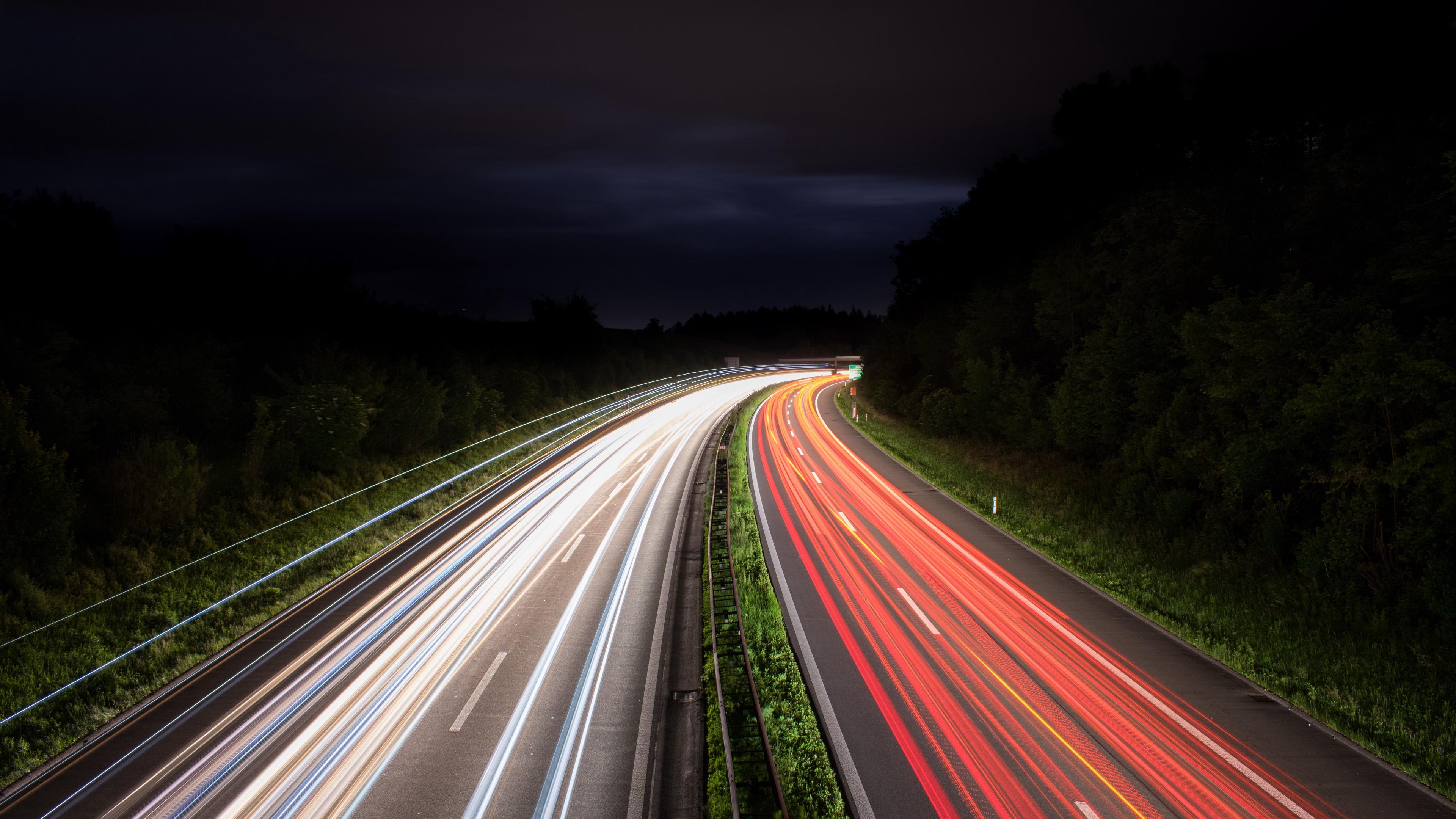 road lights turn lighting night 4k 1541113671 - road, lights, turn, lighting, night 4k - turn, Road, Lights