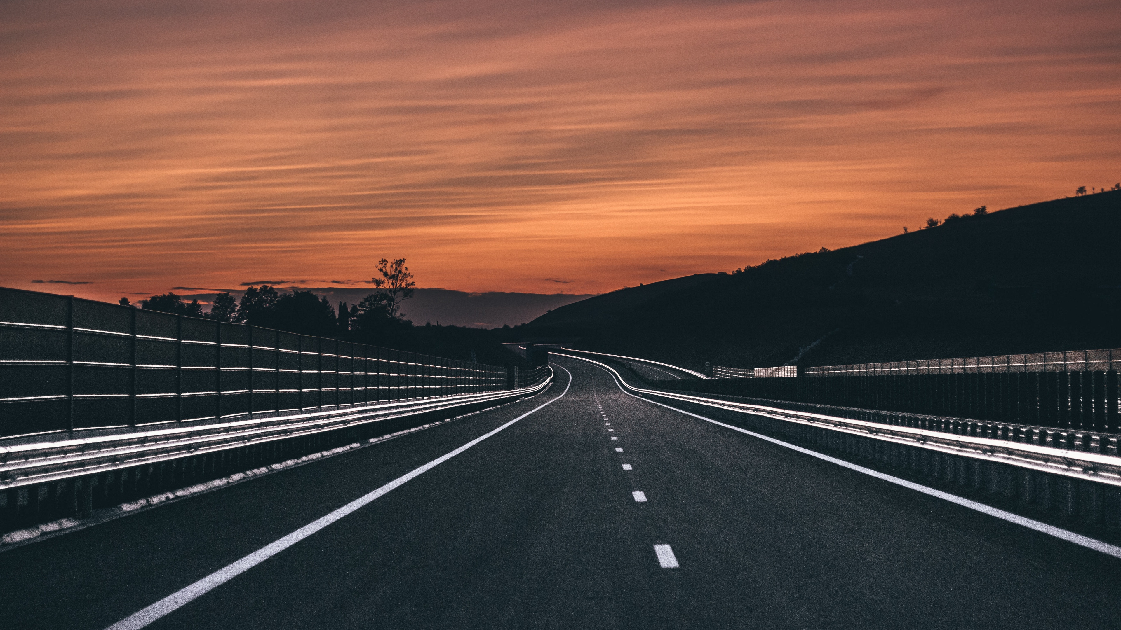 road marking asphalt sunset horizon 4k 1541117199 - road, marking, asphalt, sunset, horizon 4k - Road, marking, asphalt
