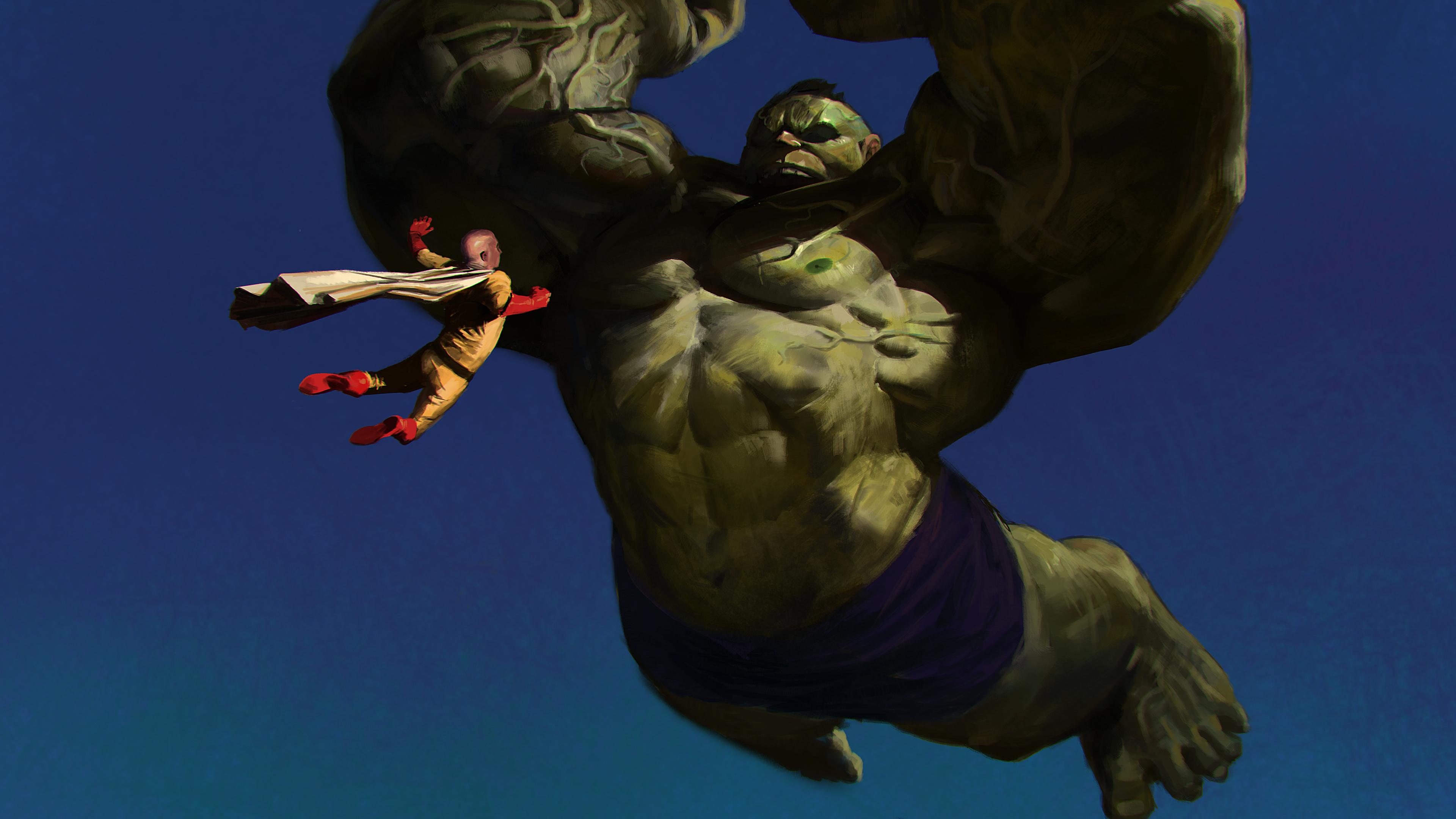 saitama vs hulk 1541973695 - Saitama Vs Hulk - one punch man wallpapers, hulk wallpapers, hd-wallpapers, digital art wallpapers, deviantart wallpapers, artwork wallpapers, artist wallpapers, anime wallpapers, 5k wallpapers, 4k-wallpapers