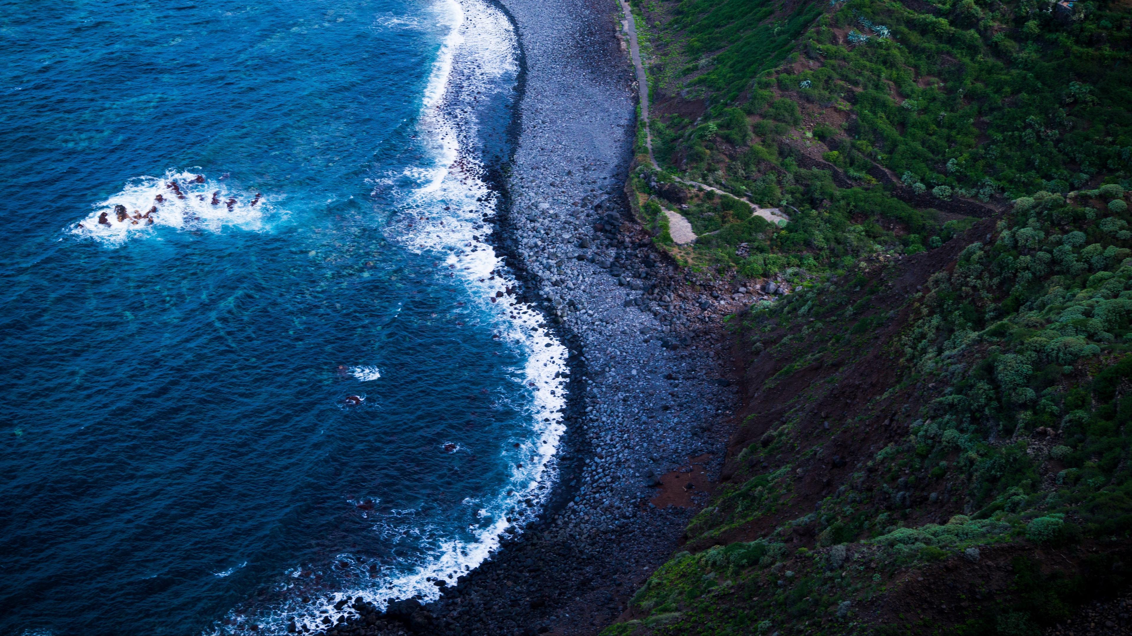 sea shore foam surf 4k 1541114045 - sea, shore, foam, surf 4k - Shore, Sea, foam