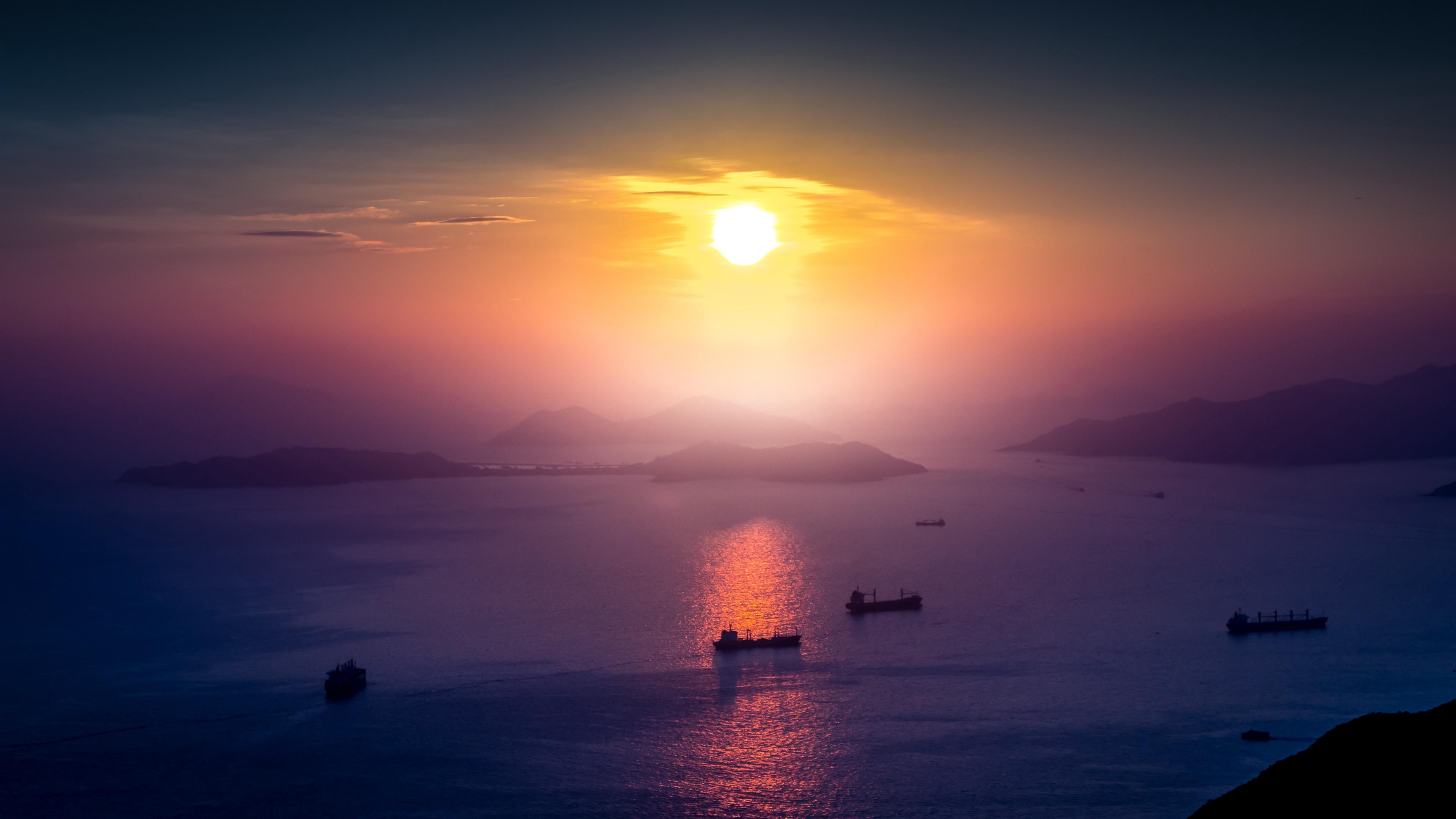 sea sunset boat dock horizon 4k 1541113519 - sea, sunset, boat, dock, horizon 4k - sunset, Sea, Boat