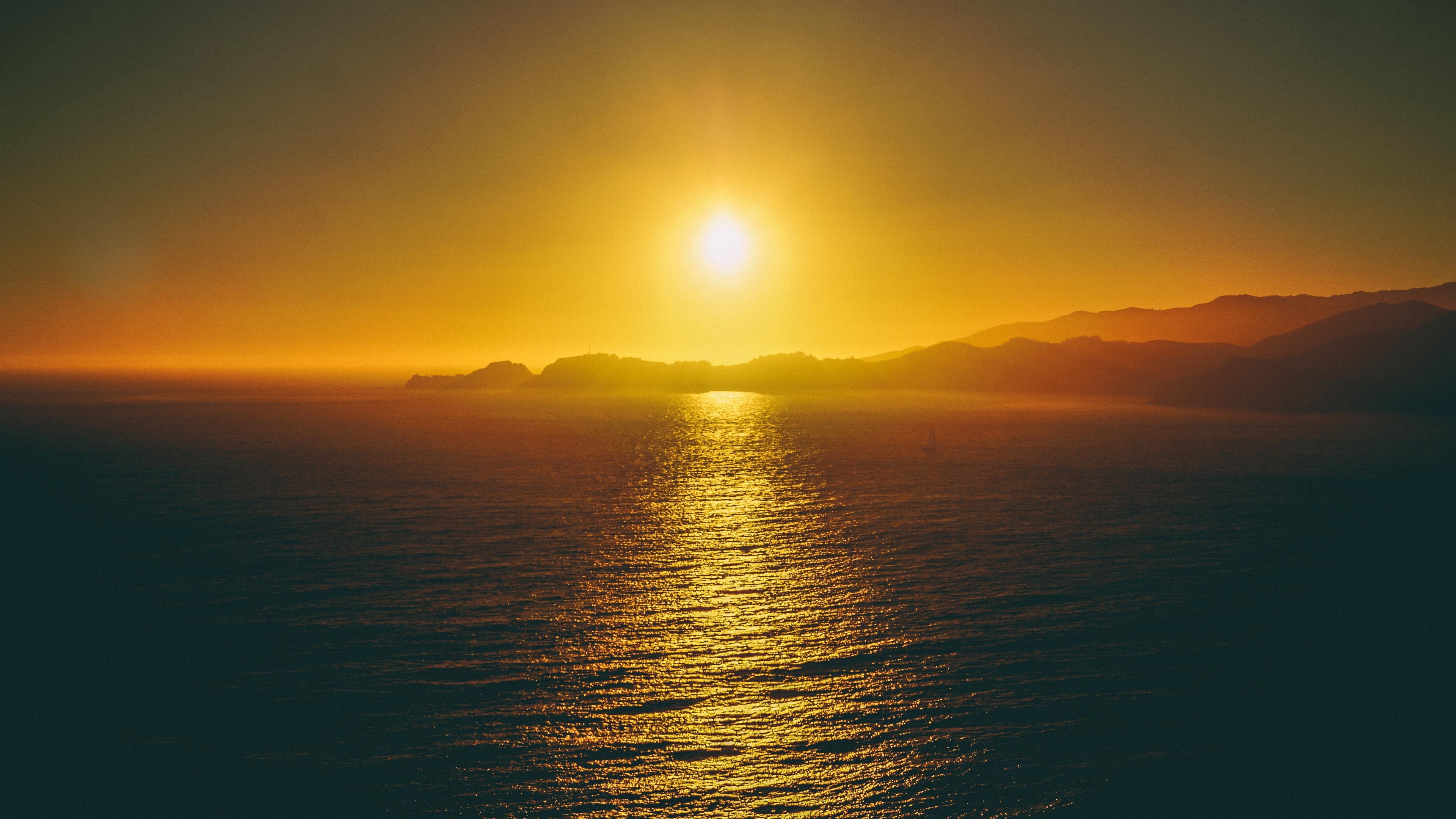 sea sunset sky 4k 1541114576 - sea, sunset, sky 4k - sunset, Sky, Sea