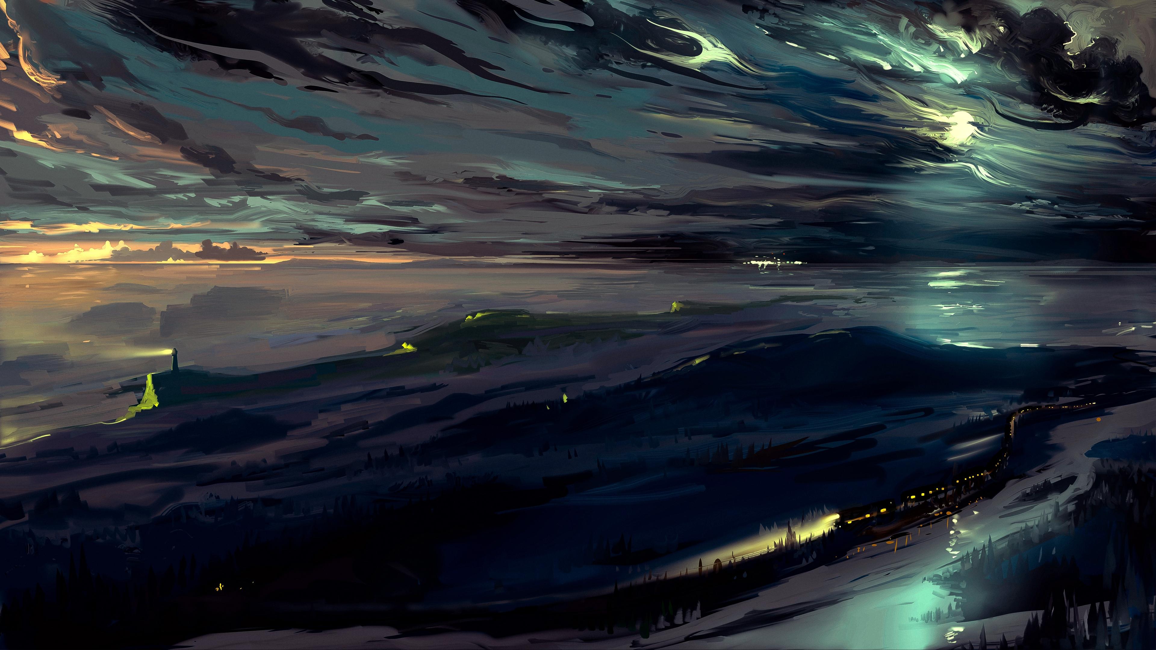 sky art dark night 4k 1541971602 - sky, art, dark, night 4k - Sky, Dark, art