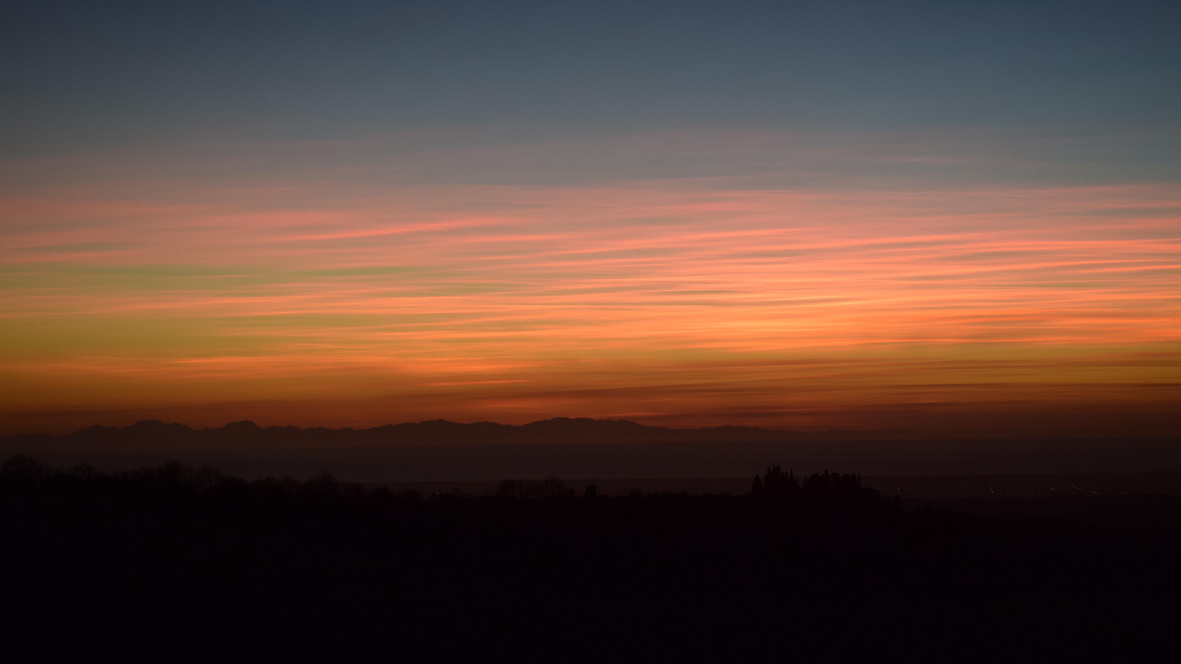 sky clouds horizon sunset 4k 1541114149 - sky, clouds, horizon, sunset 4k - Sky, Horizon, Clouds