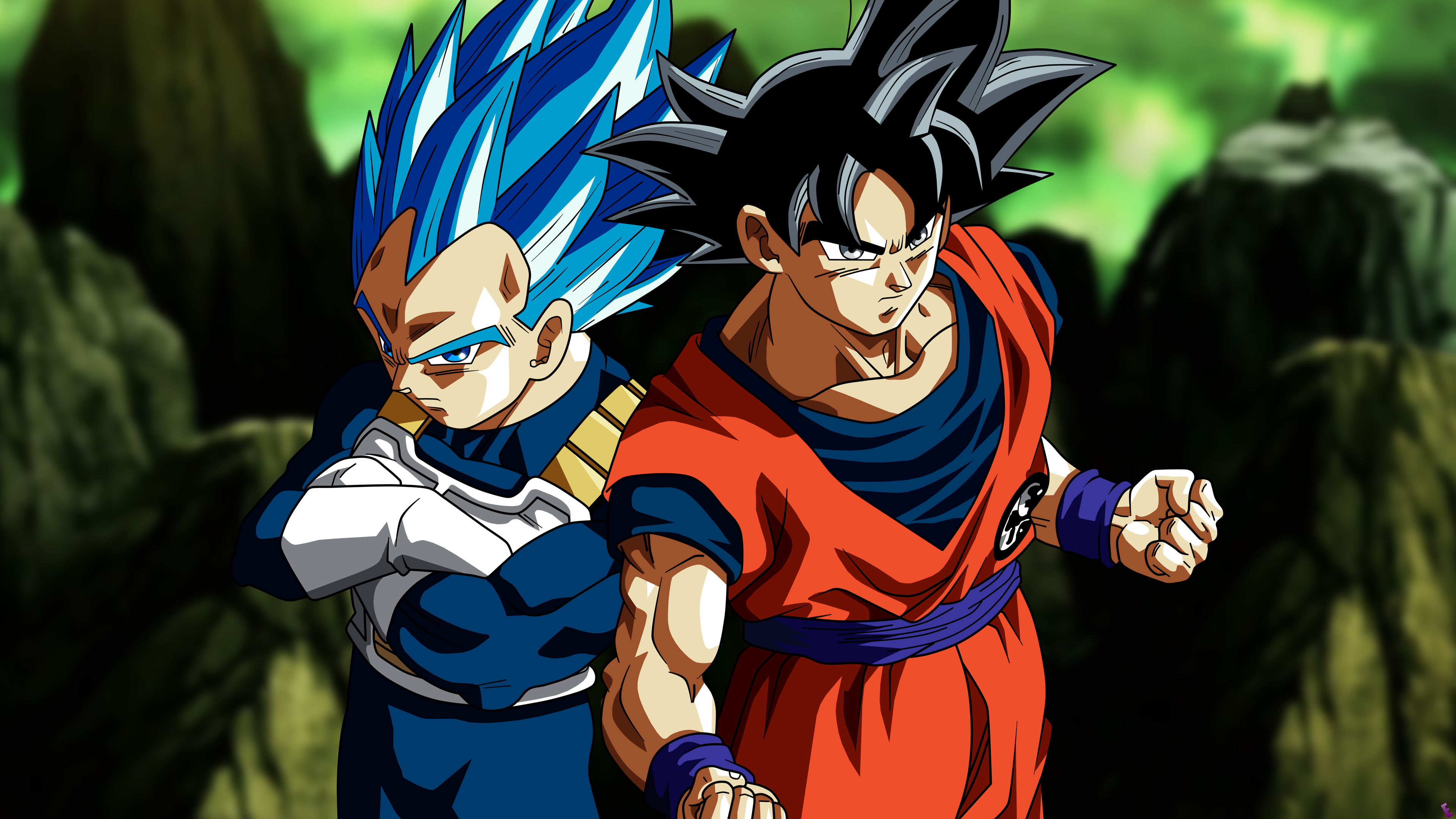 Wallpaper 4k Son Goku Vegeta In Dragon Ball Super 4k 4k