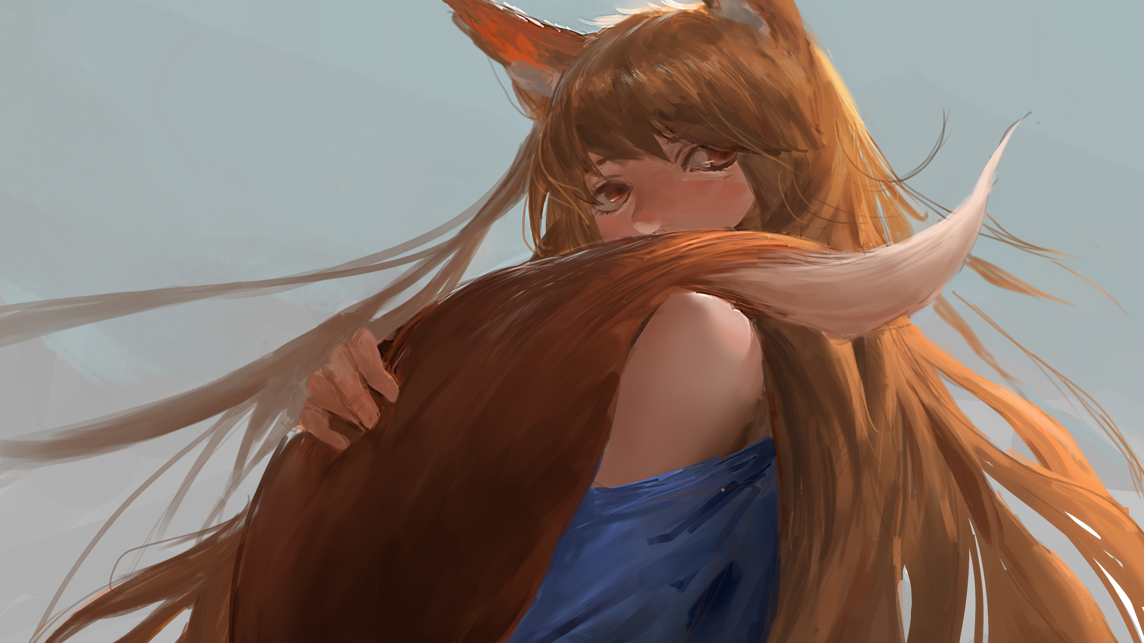 Wallpaper 4k Spice And Wolf Anime 4k 4k Wallpapers Anime