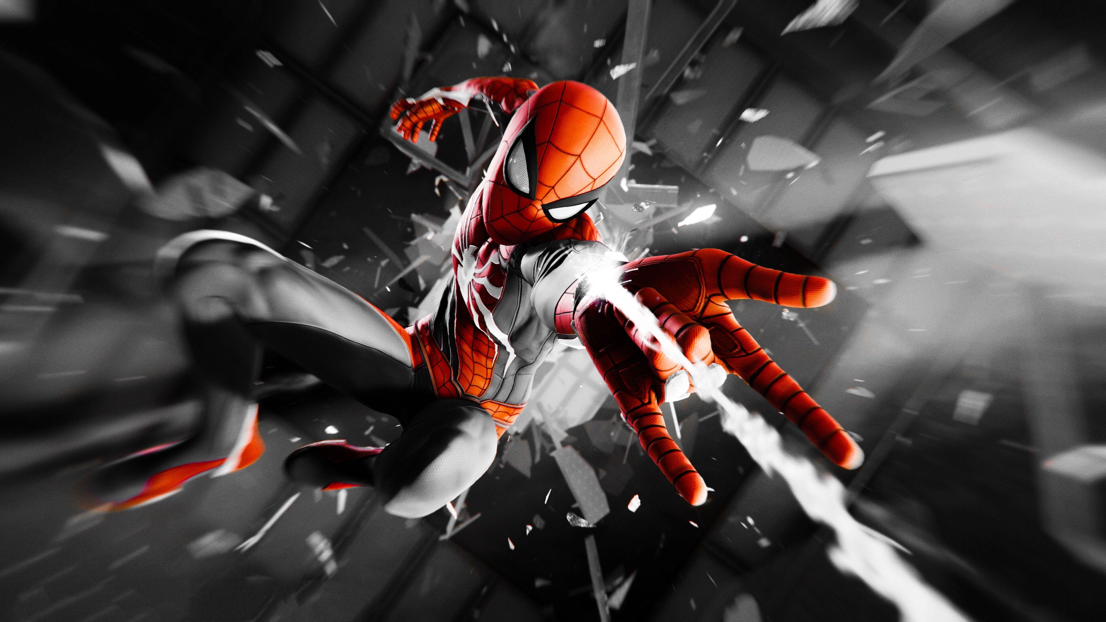 spiderman 4k monochrome 1543620351 - Spiderman 4k Monochrome - superheroes wallpapers, spiderman wallpapers, hd-wallpapers, digital art wallpapers, artwork wallpapers, artist wallpapers, 4k-wallpapers