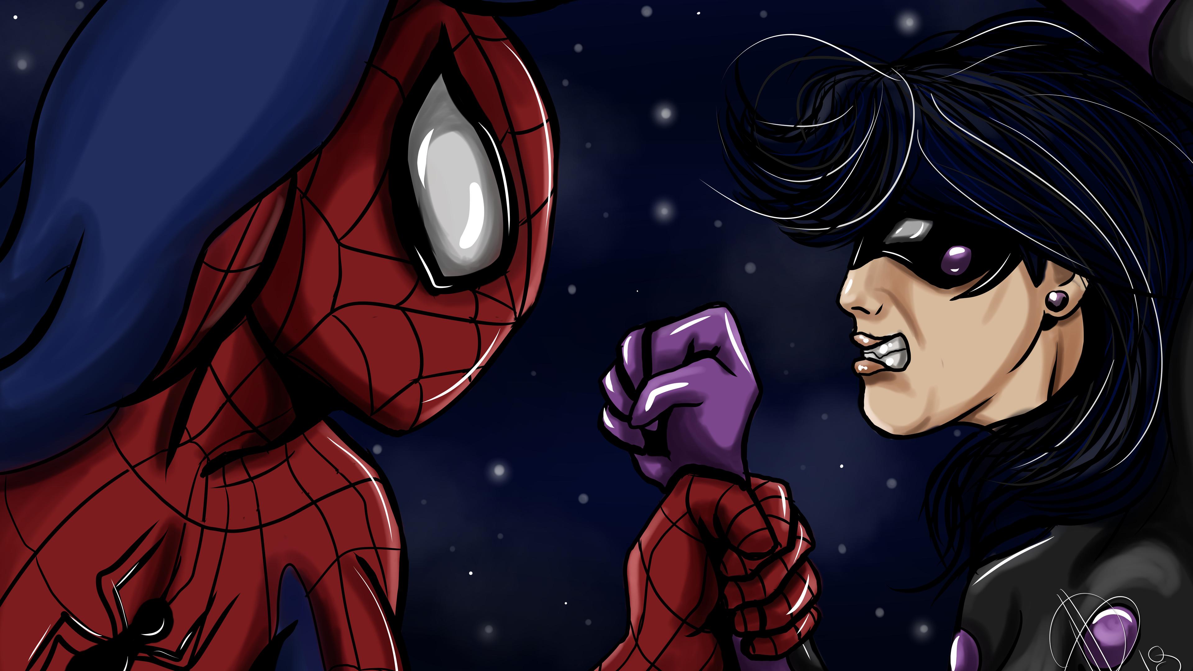 spiderman and ladybug 4k 1543620133 - Spiderman And Ladybug 4k - superheroes wallpapers, spiderman wallpapers, hd-wallpapers, 4k-wallpapers