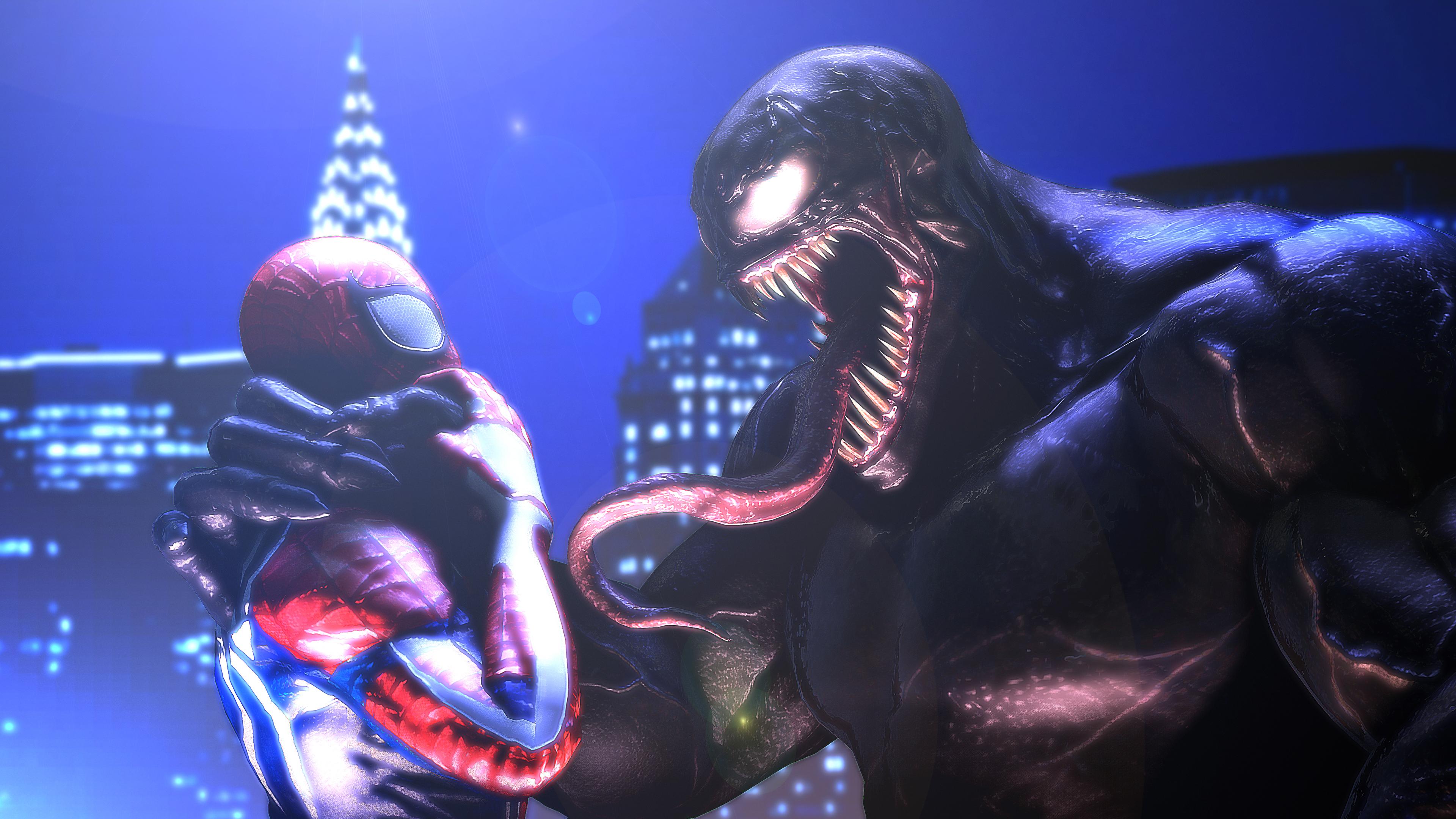 spiderman and venom 5k 1541294310 - Spiderman And Venom 5k - Venom wallpapers, superheroes wallpapers, spiderman wallpapers, hd-wallpapers, digital art wallpapers, deviantart wallpapers, artwork wallpapers, artist wallpapers, 5k wallpapers, 4k-wallpapers