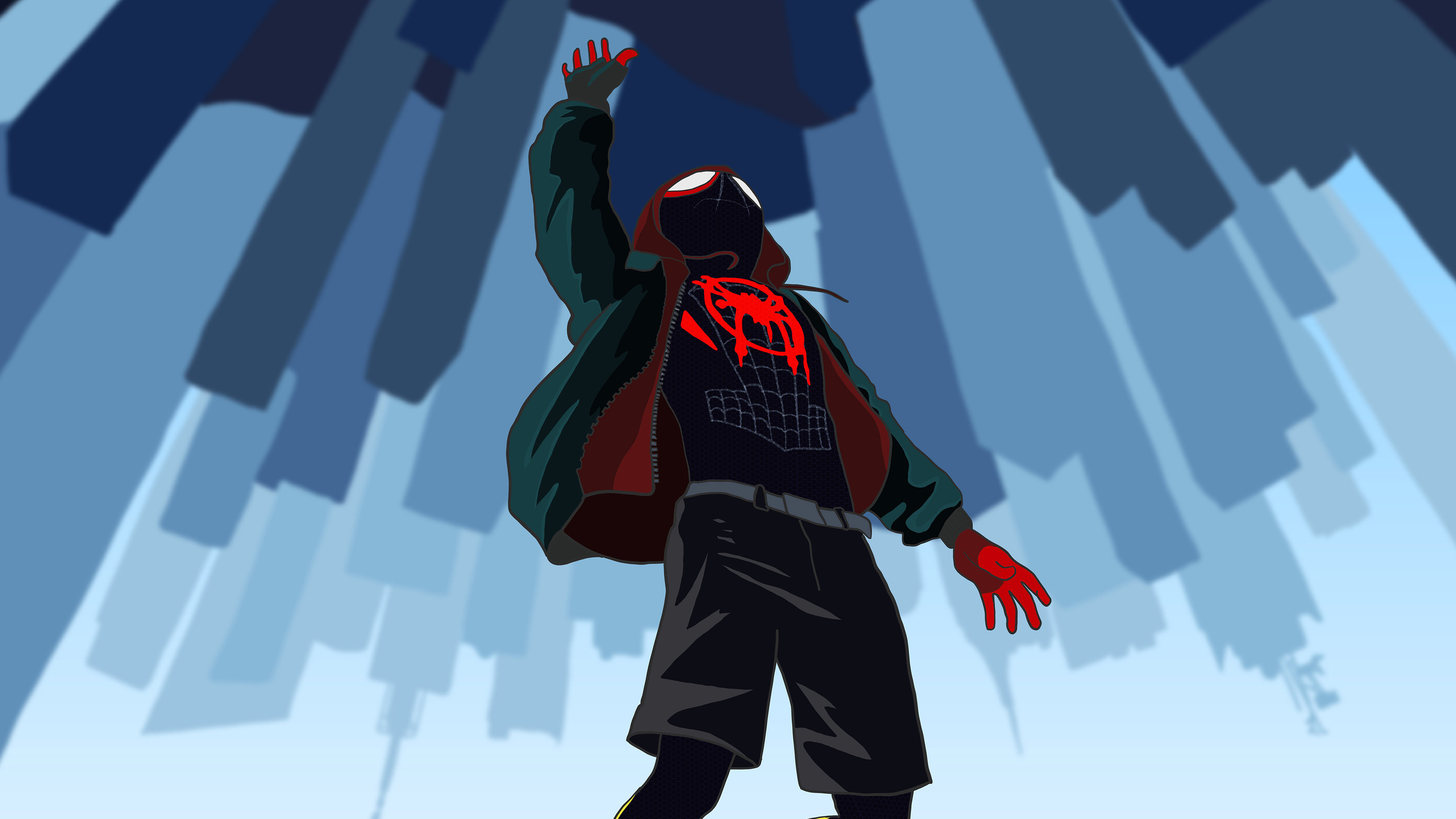 spiderman man verse 4k 1543620261 - Spiderman Man Verse 4k - superheroes wallpapers, spiderman into the spider verse wallpapers, hd-wallpapers, digital art wallpapers, behance wallpapers, artwork wallpapers, artist wallpapers, 4k-wallpapers